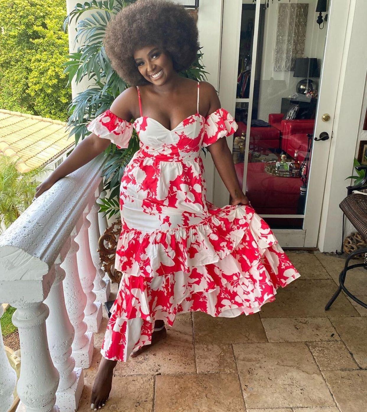 Amara La Negra, look del día, vestido veraniego
