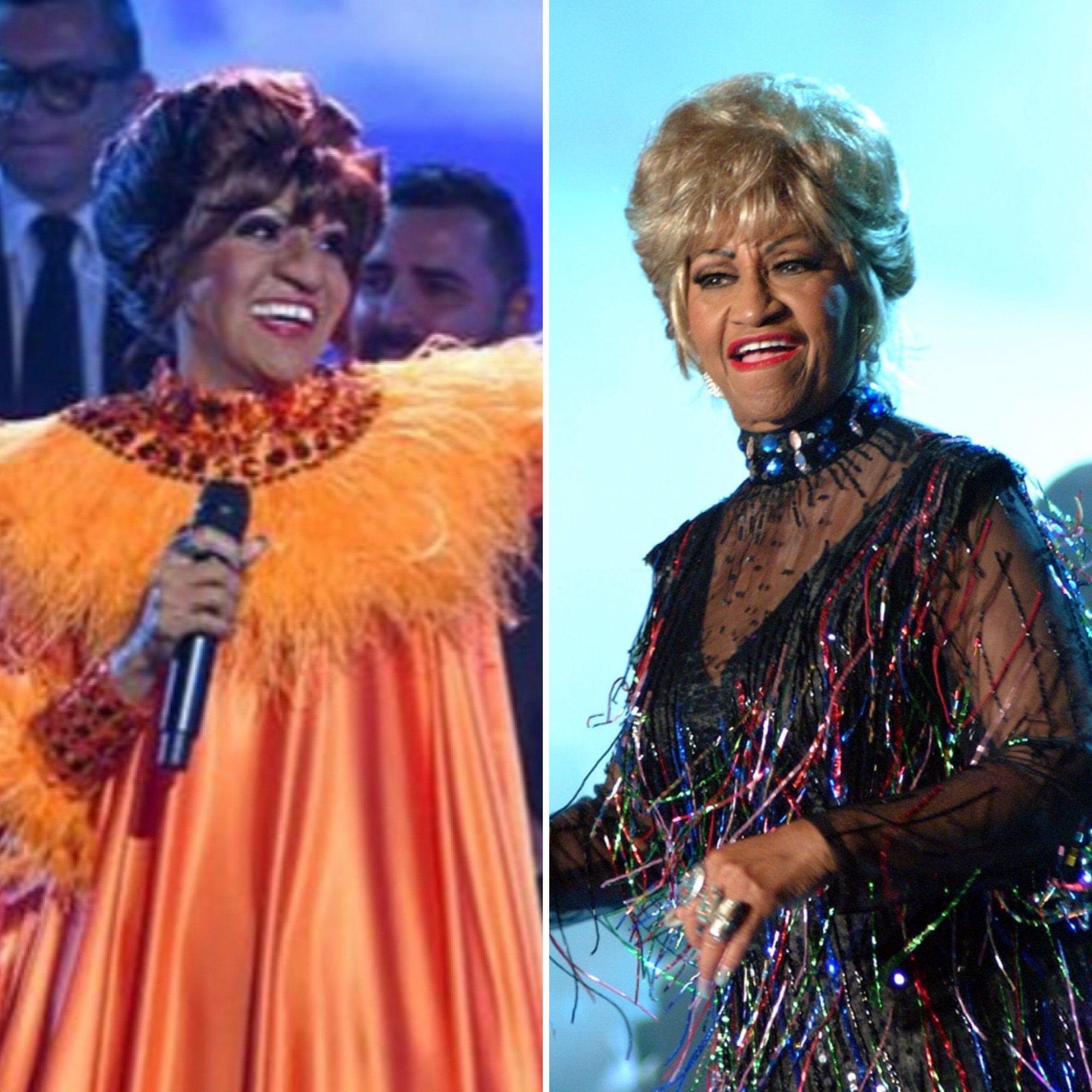 Francisca Lachapel y Celia Cruz