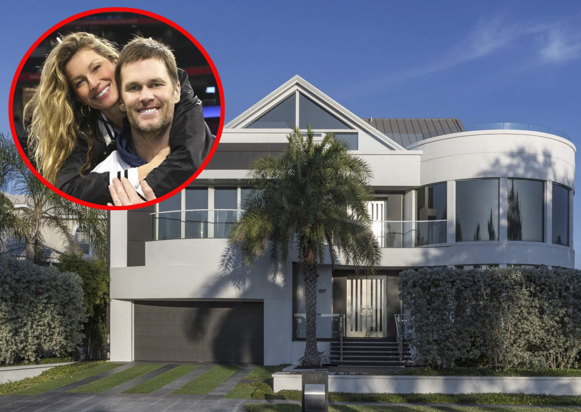 La casa de Tom Brady y Gisele Bundchen