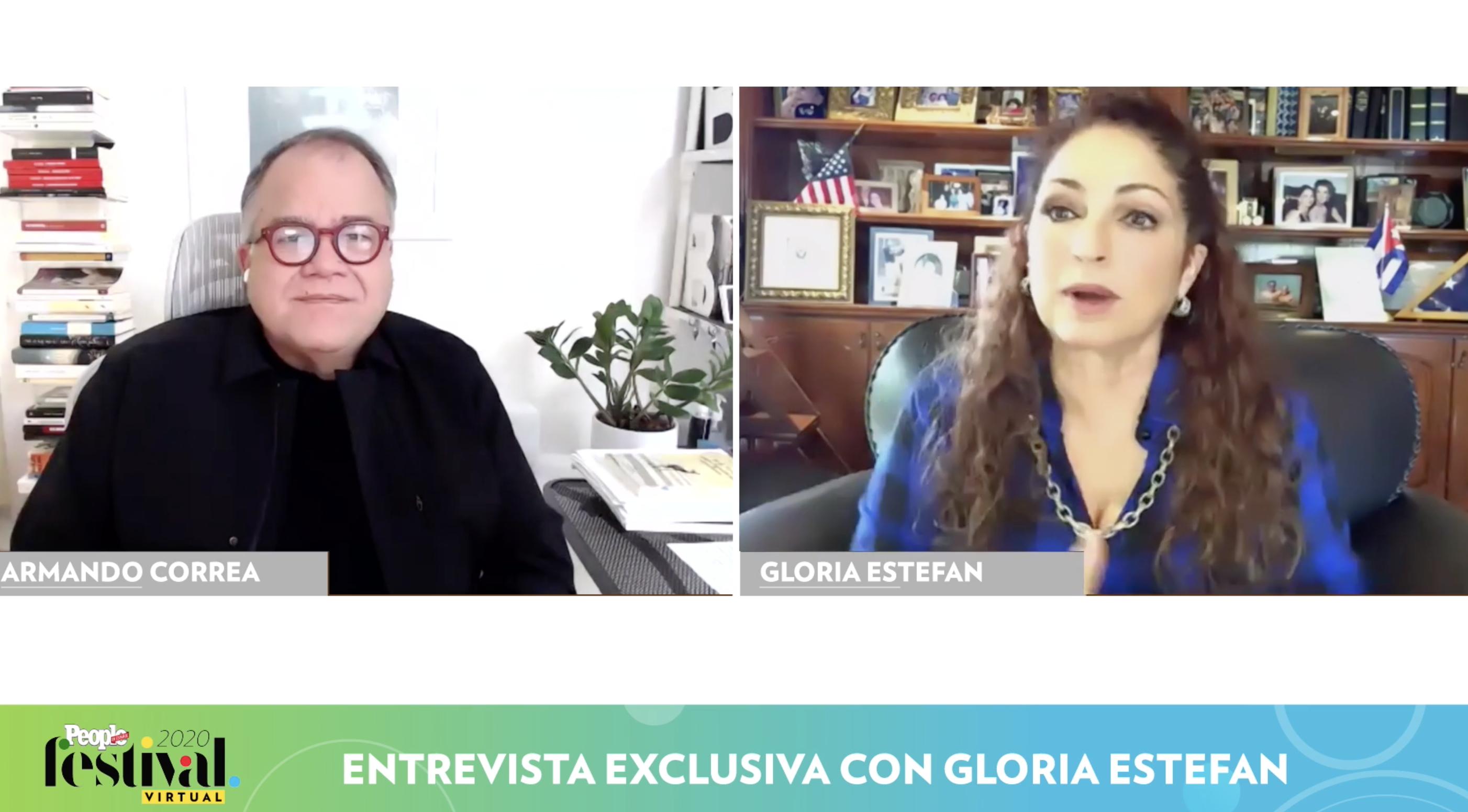 Armando Correa y Glora Estefan