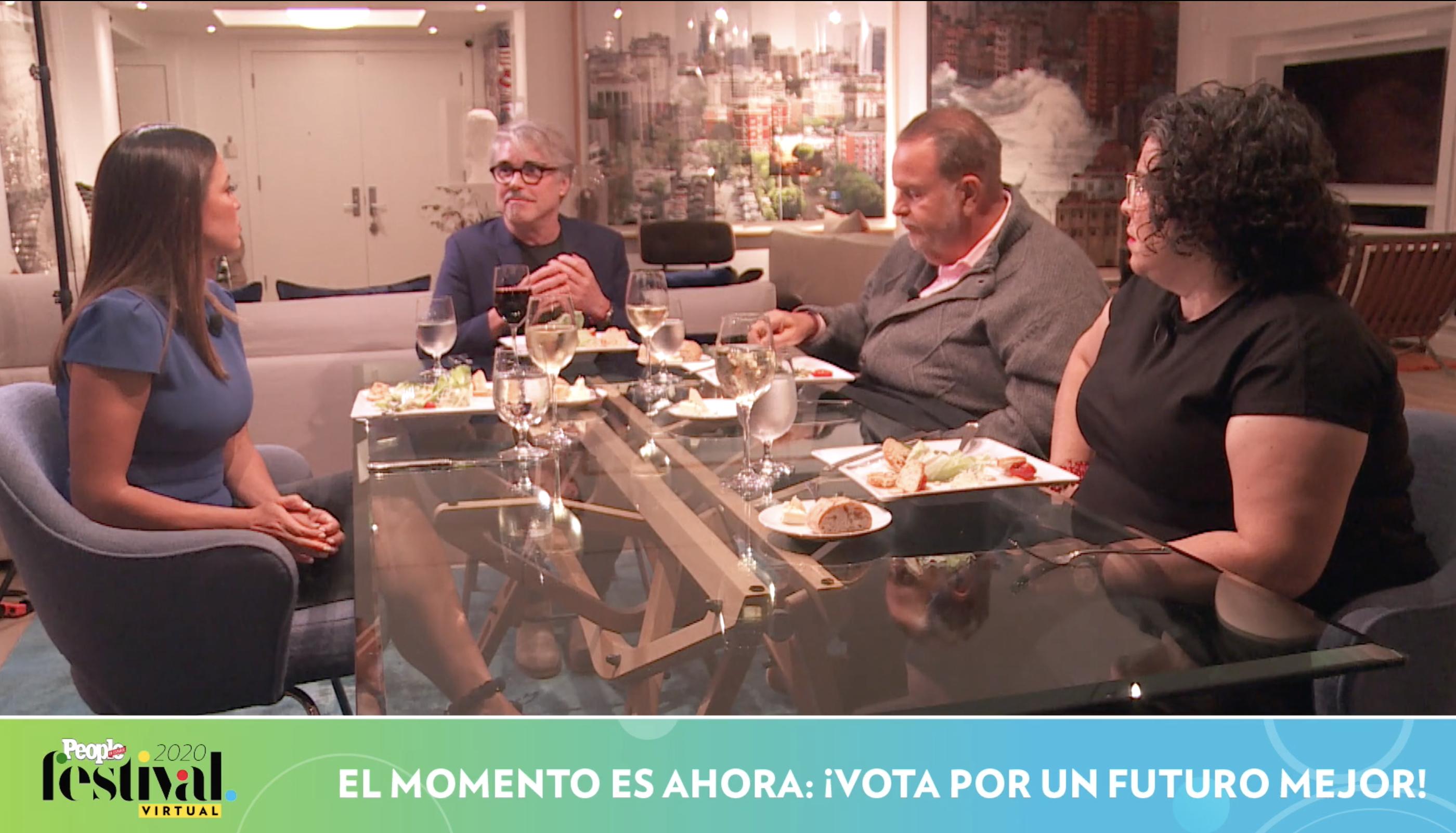 Pamela Silva, Carmen Peláez, Raúl de Molina y Miguel Sirgado