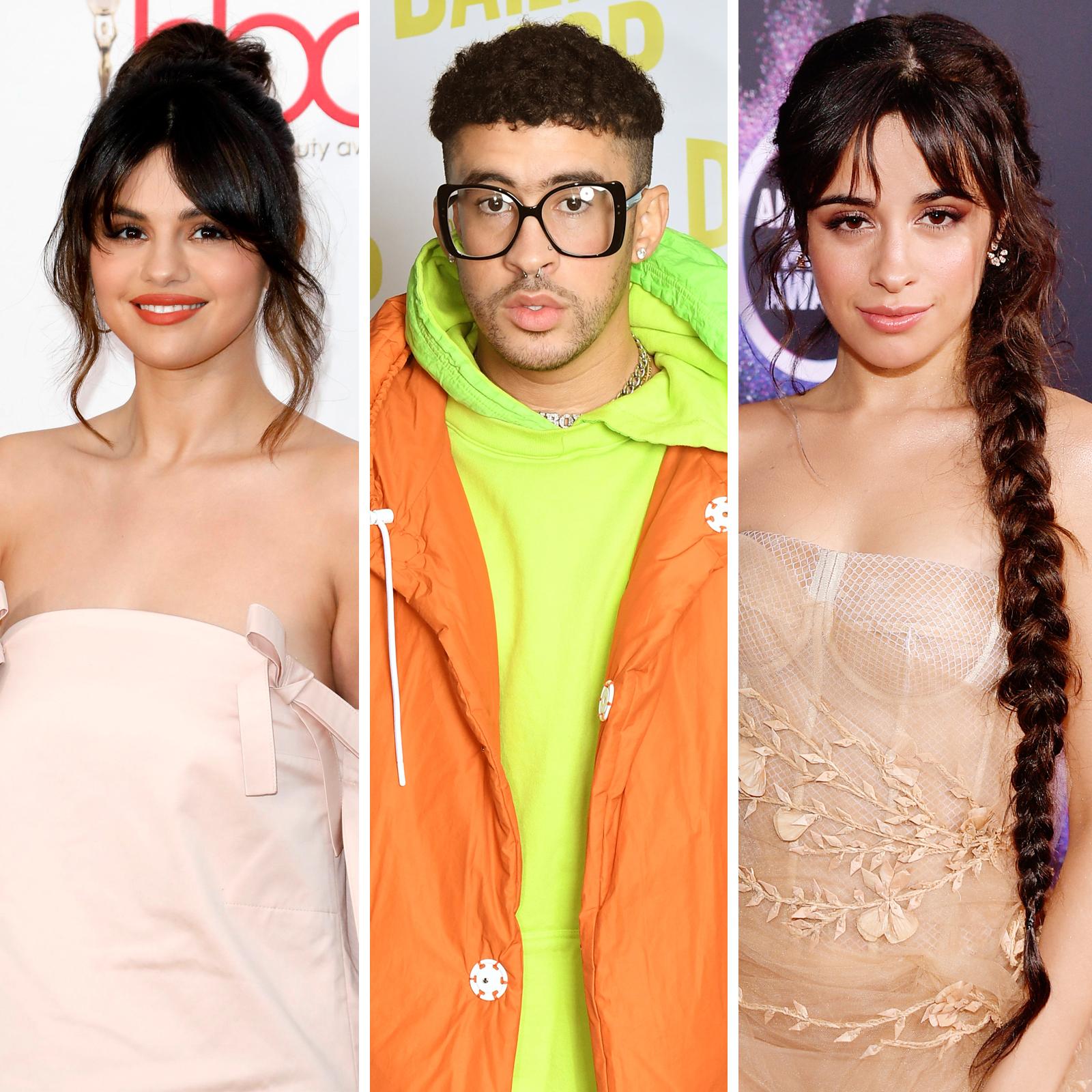 Selena Gomez, Bad Bunny y Camila Cabello