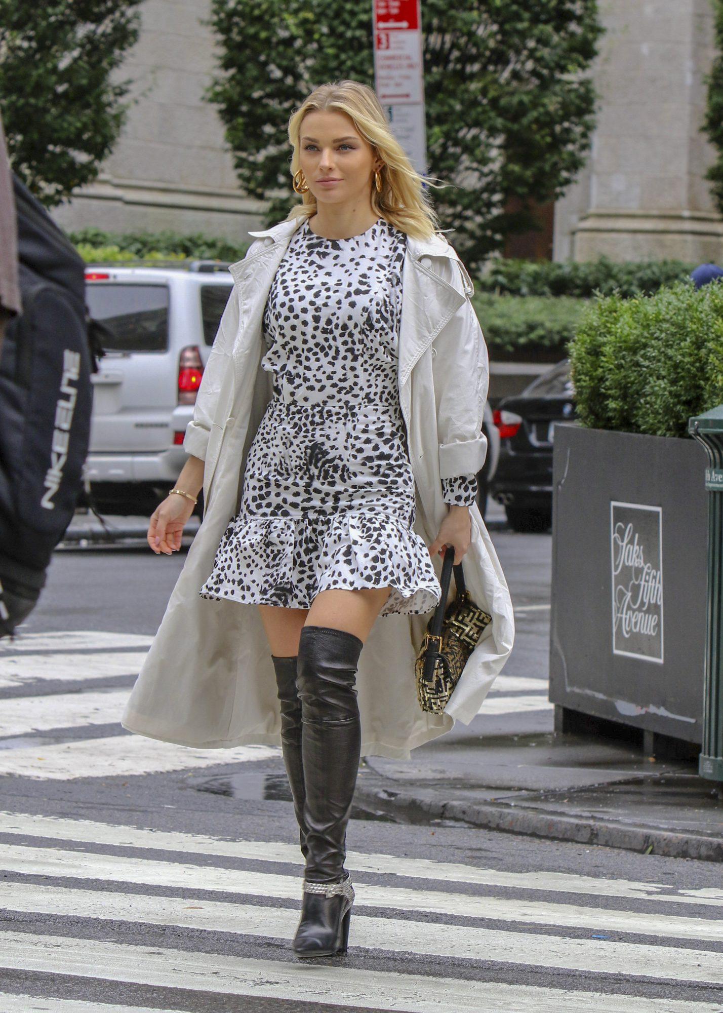 Irina Baeva, look, new york, otoño, botas