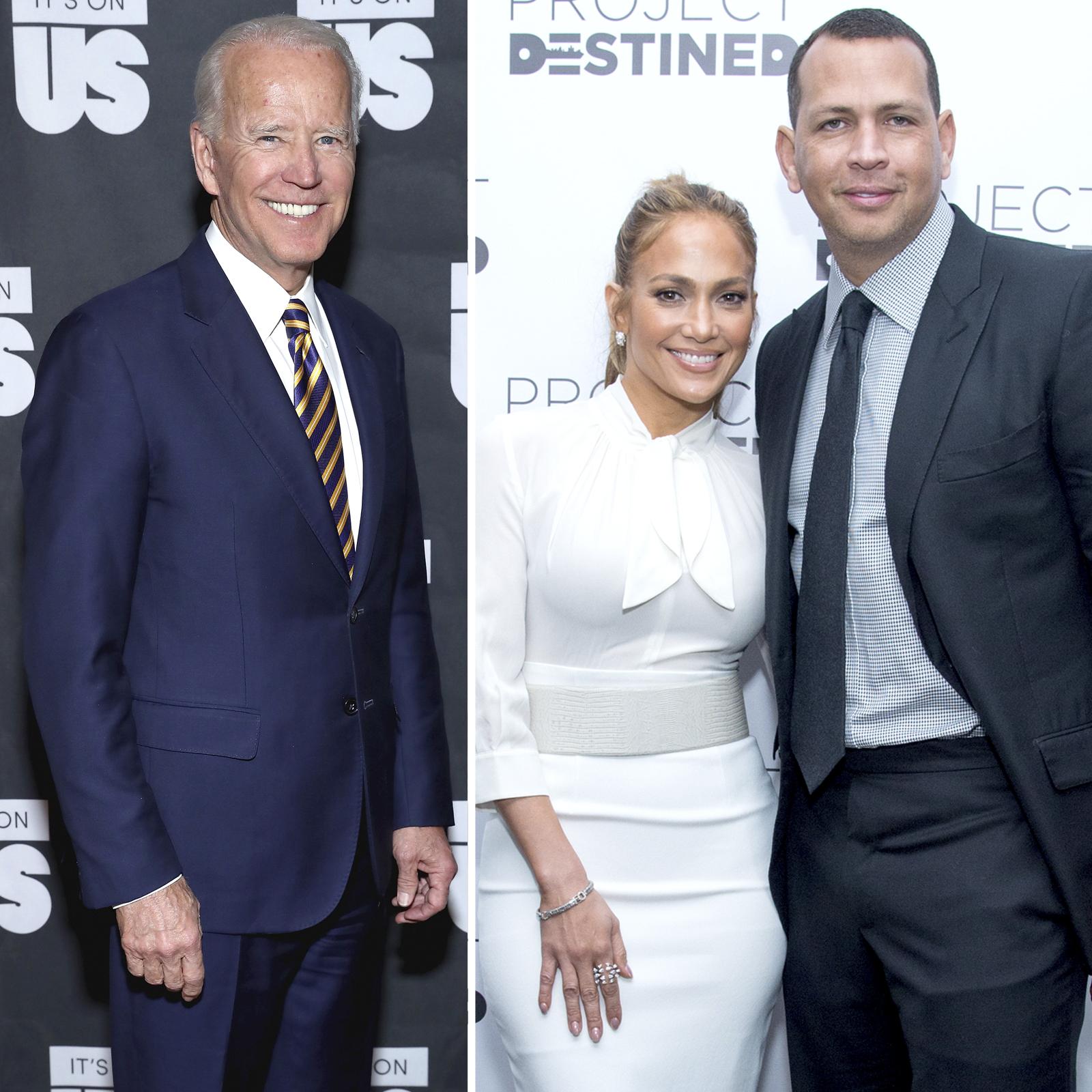 Joe Biden, Jennifer Lopez y Alex Rodriguez