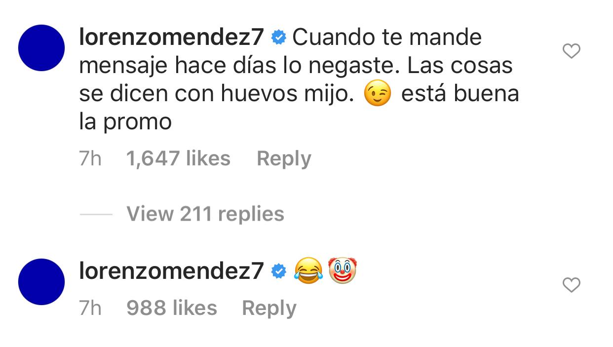Lorenzo Méndez comentario