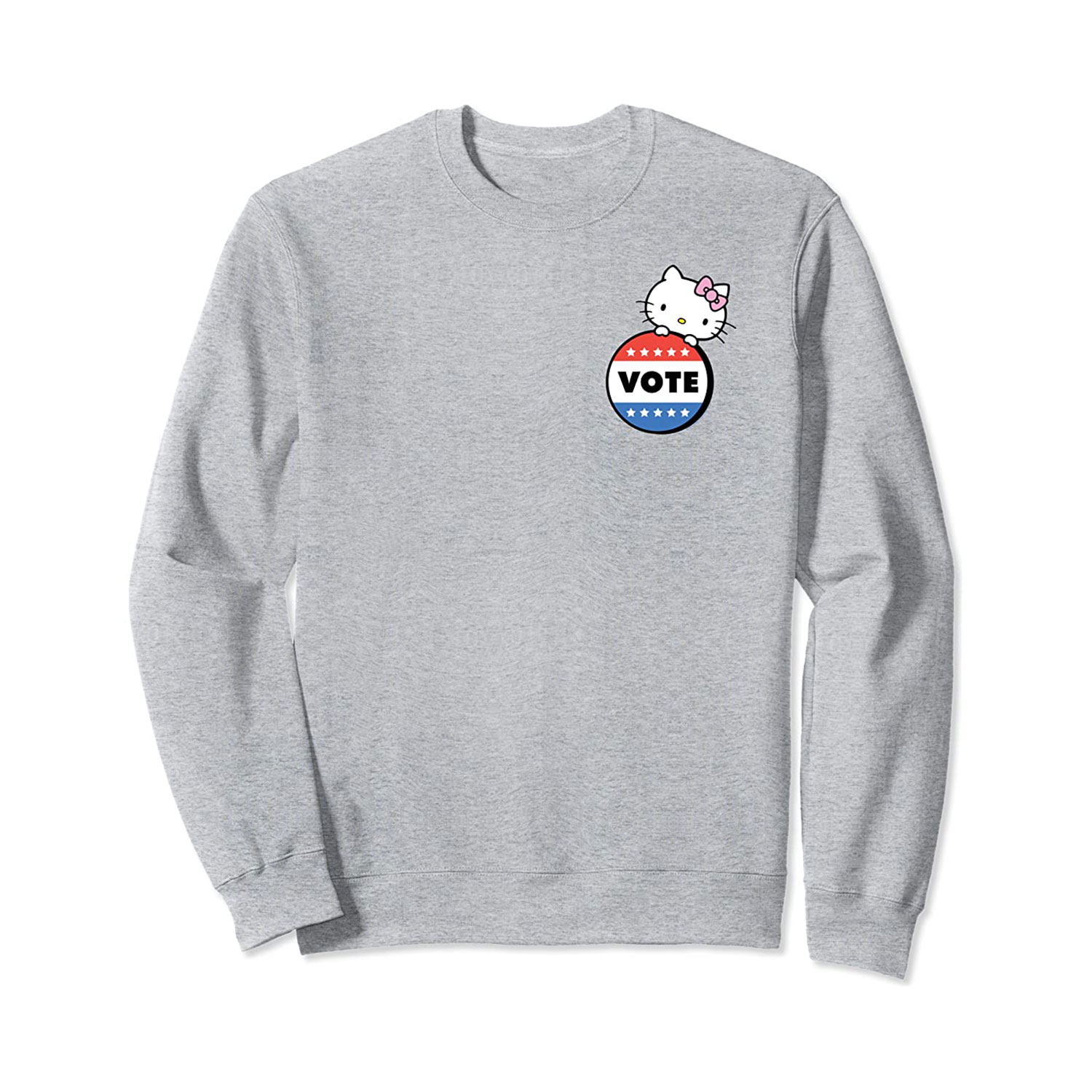 hello kitty vote button sweatshirt