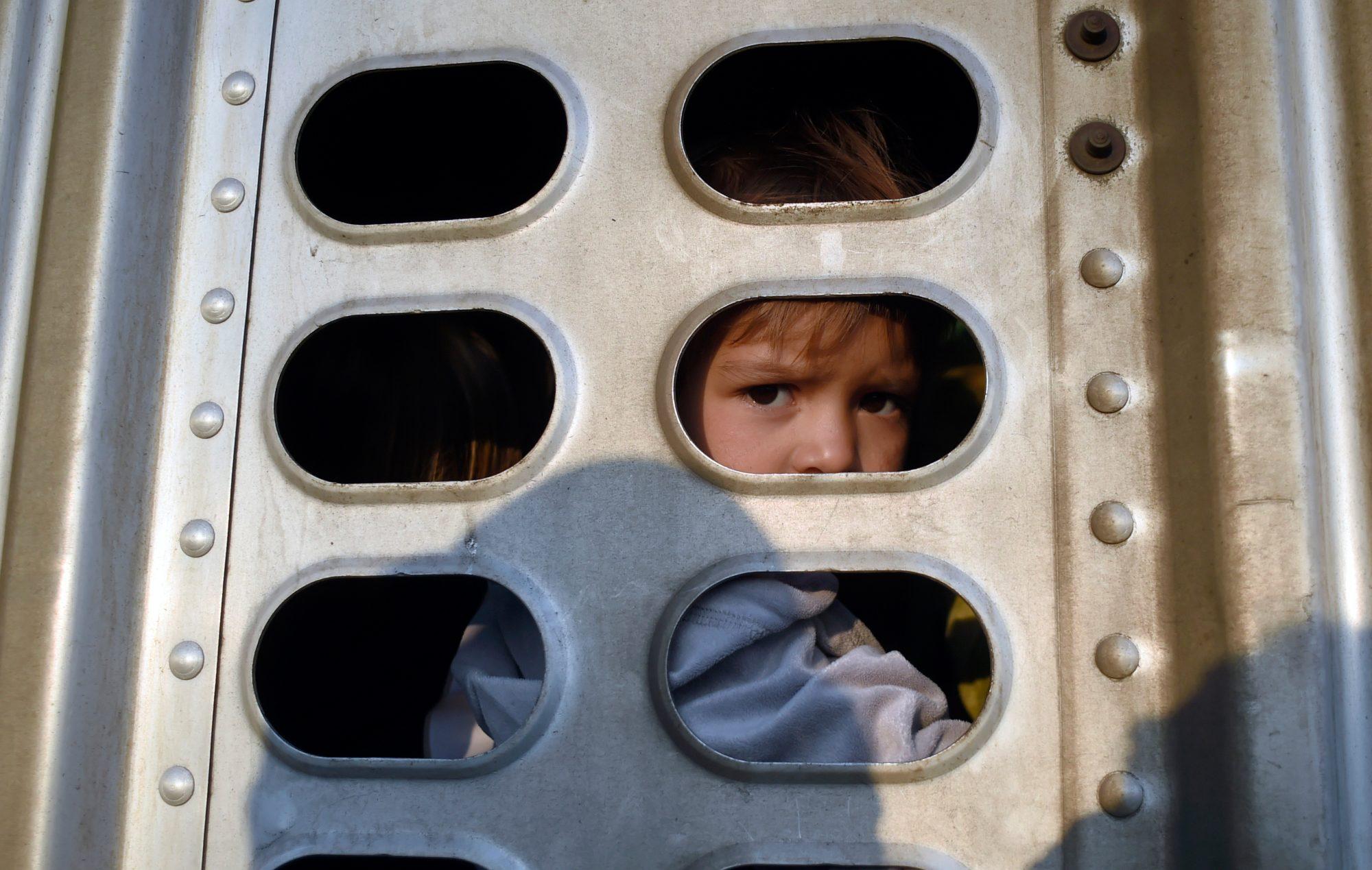 Niños detenidos en la frontera