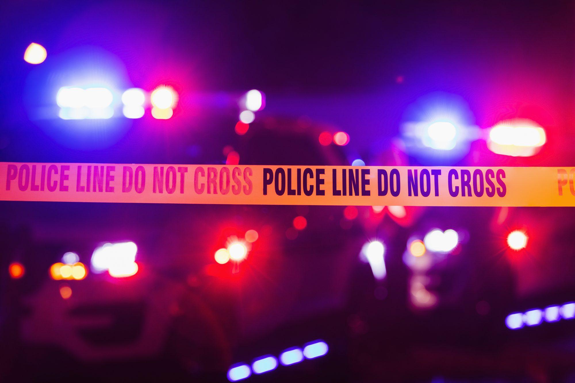 Accident tape - crime scene