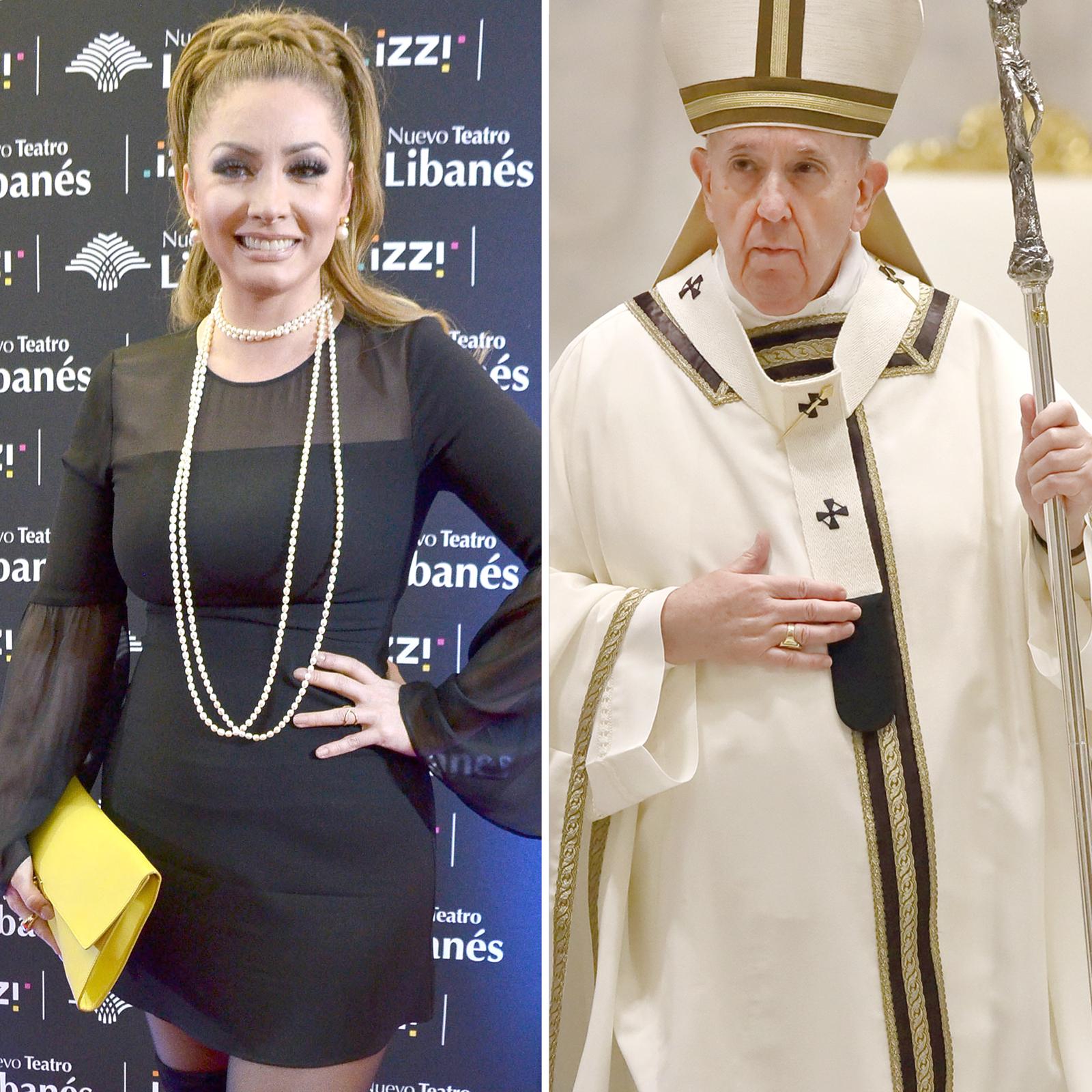 Paty Navidad y el Papá Francisco