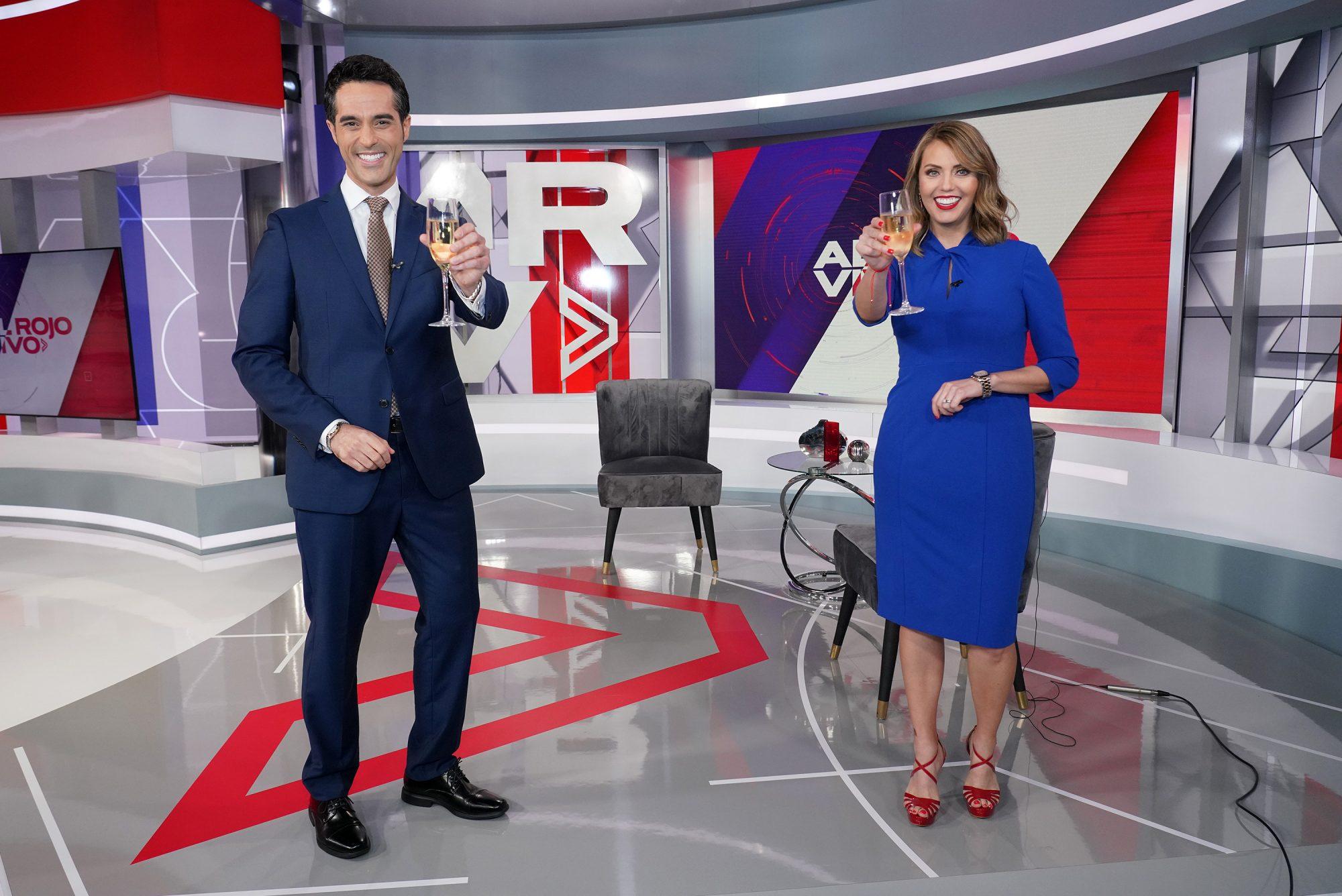 New Hosts Antonio Texidor Jessica Carrillo And Antonio Texidor Join Telemundo's Al Rojo Vivo