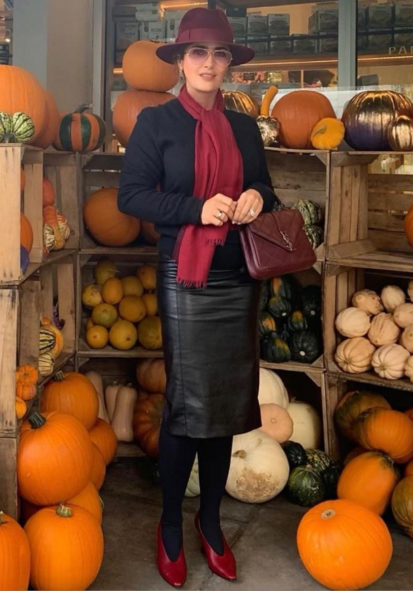 Salma Hayek, Halloween, look, otono