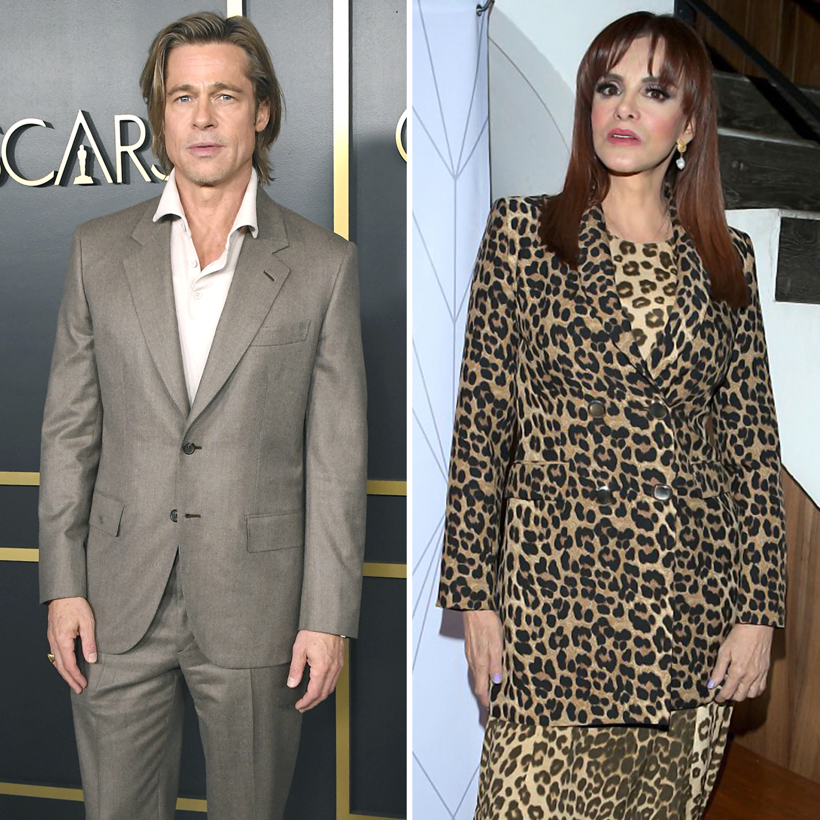 Brad Pitt y Lucia Mendez