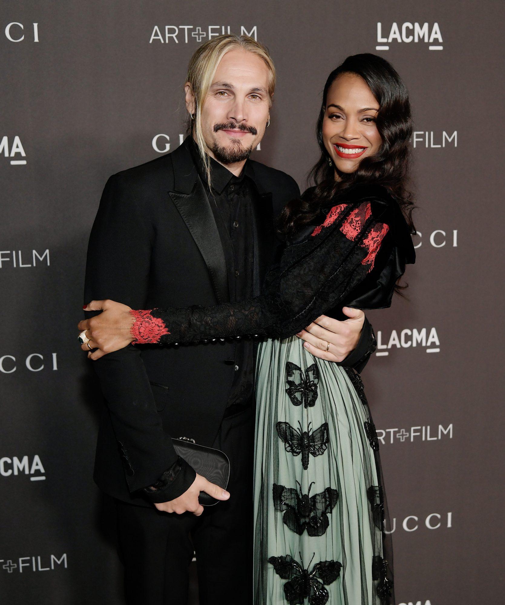 Zoe Saldaña y esposo Marco Perego