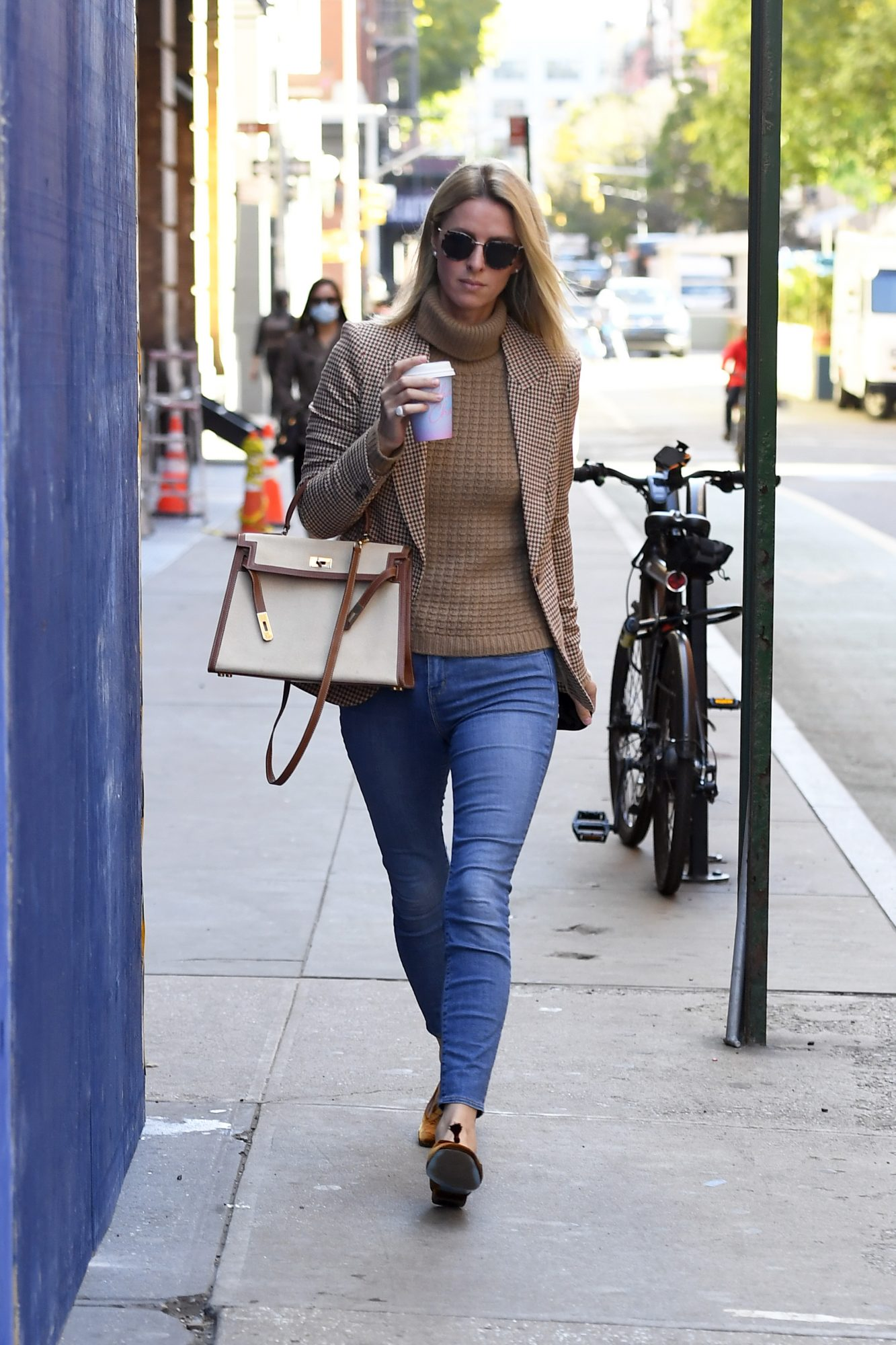 Nicky Hilton, look, otono, new york