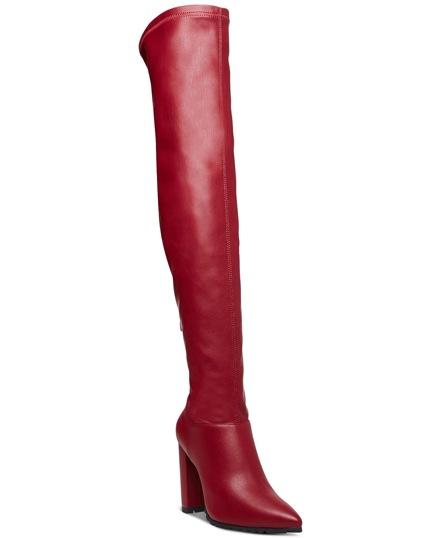 Macys, botas rojas