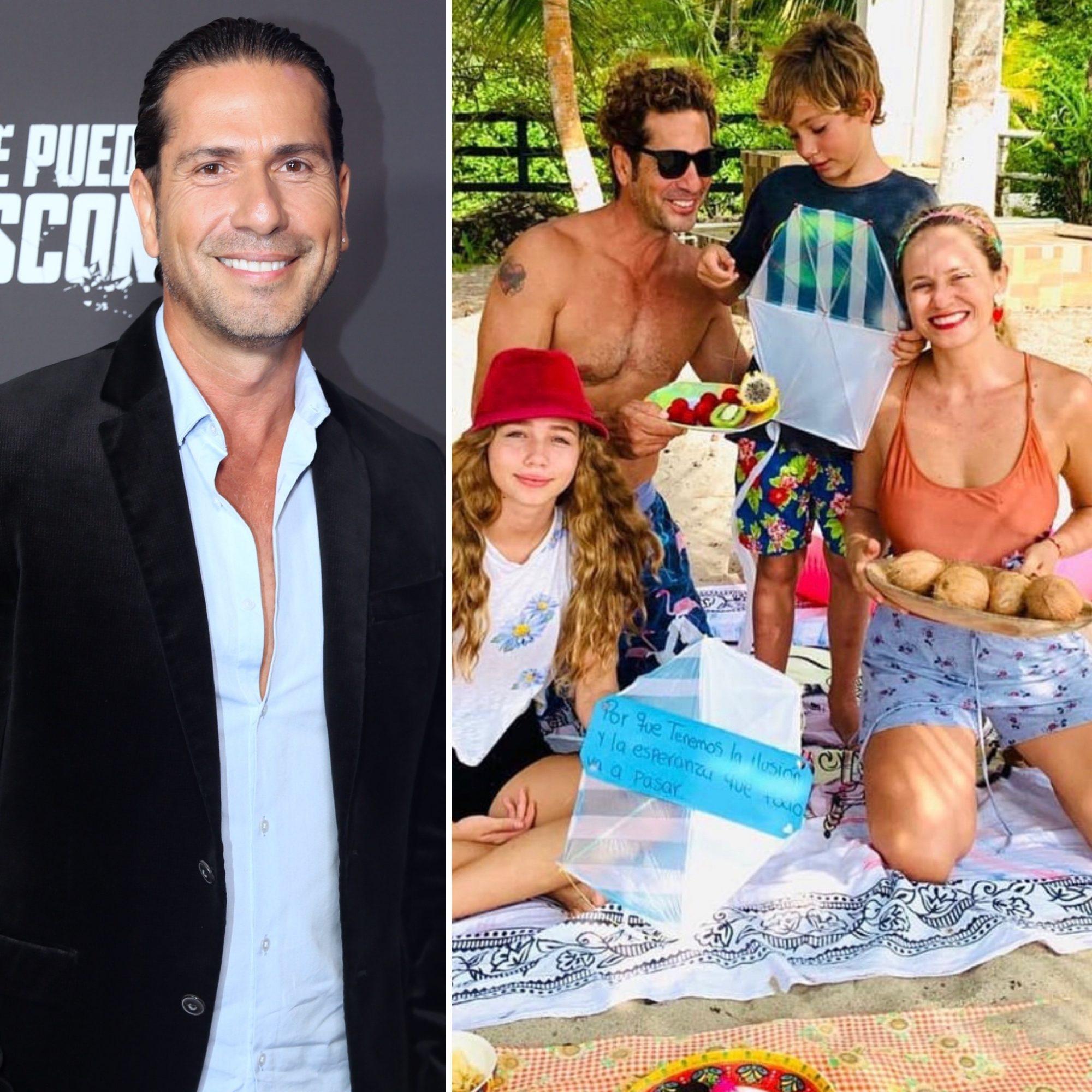 Gregorio Pernía y su familia