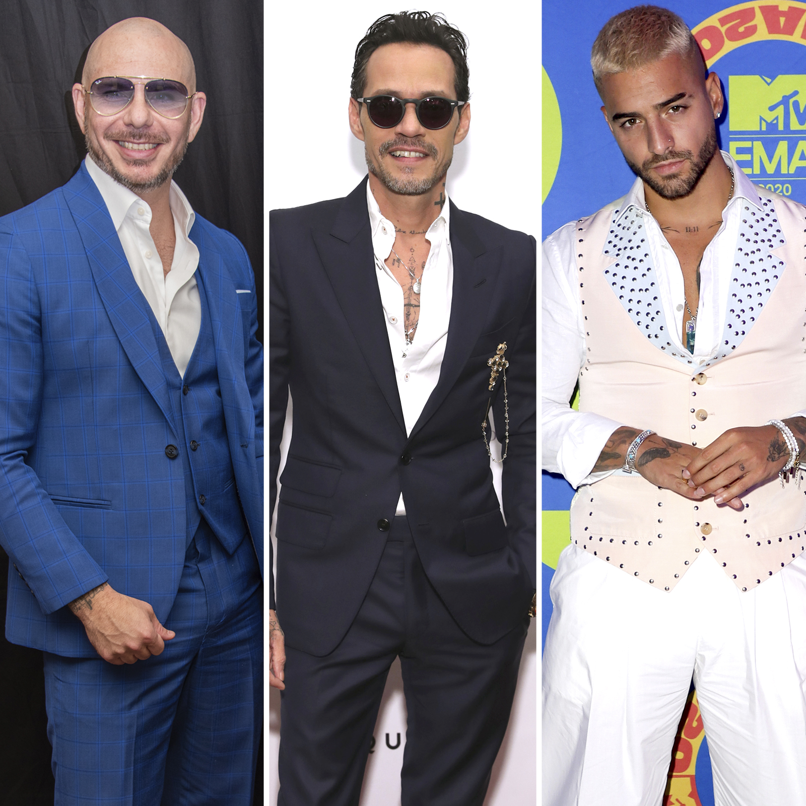 Pitbull, Marc Anthony and Maluma