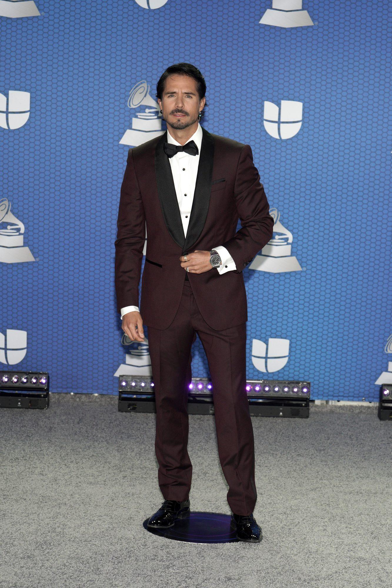 Jose Ron, look, Latin Grammy 2020