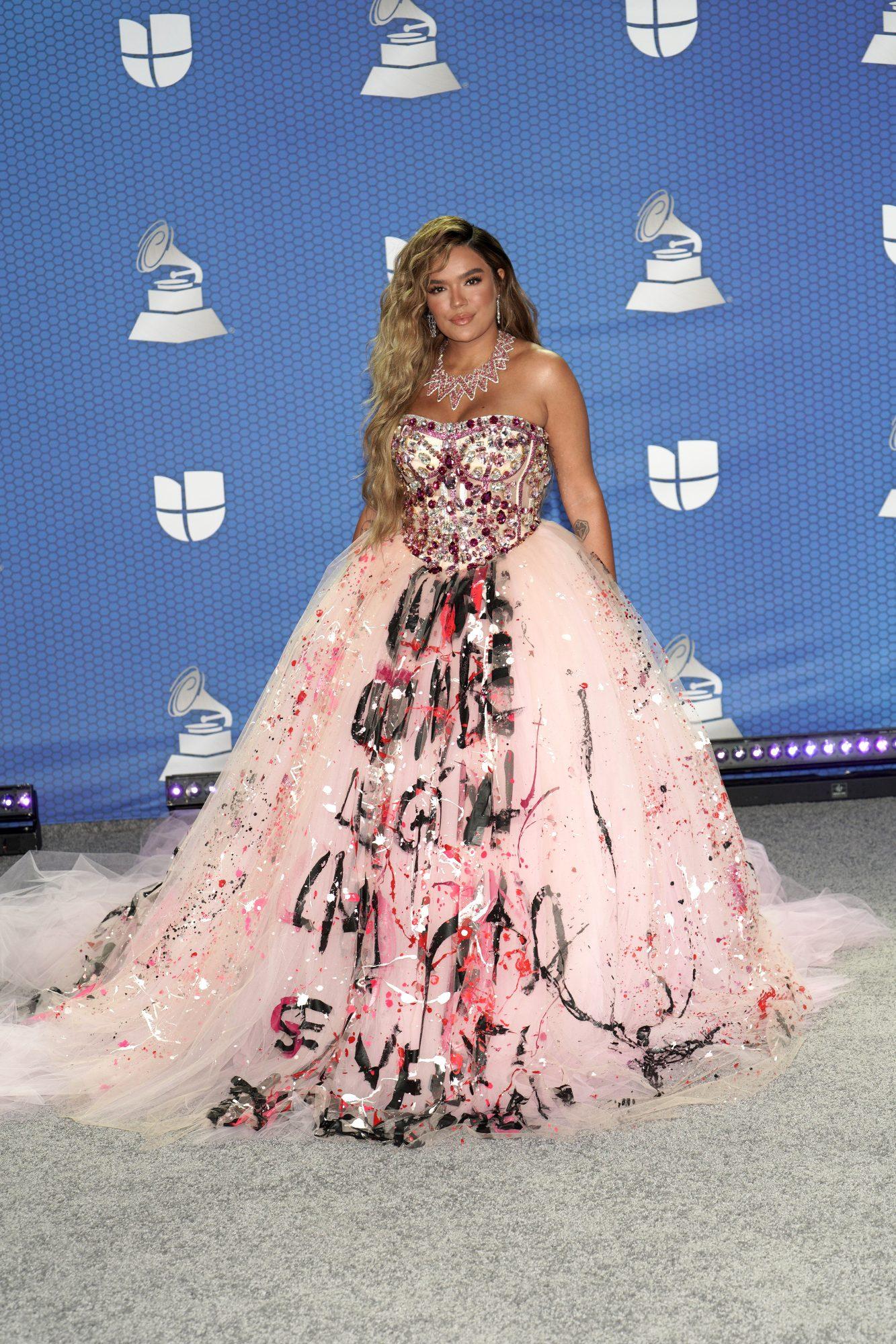 Karol G, vestido, Latin Grammy 2020
