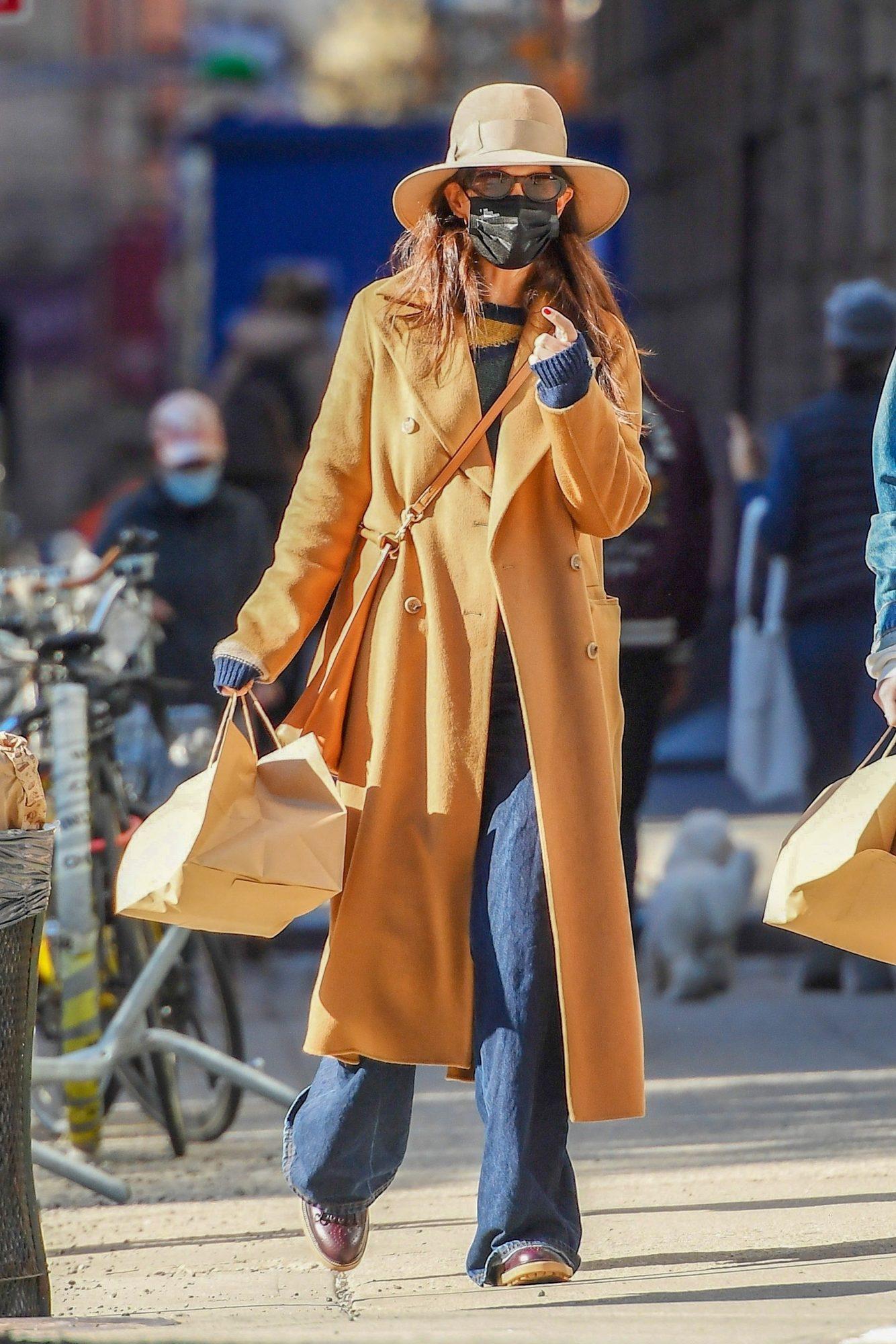 Katie Holmes, look, streetstyle, New York