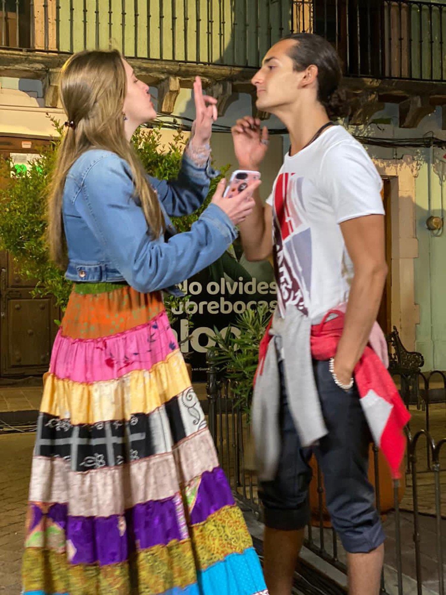 Emilio Marcos y la hija de Daniela Castro