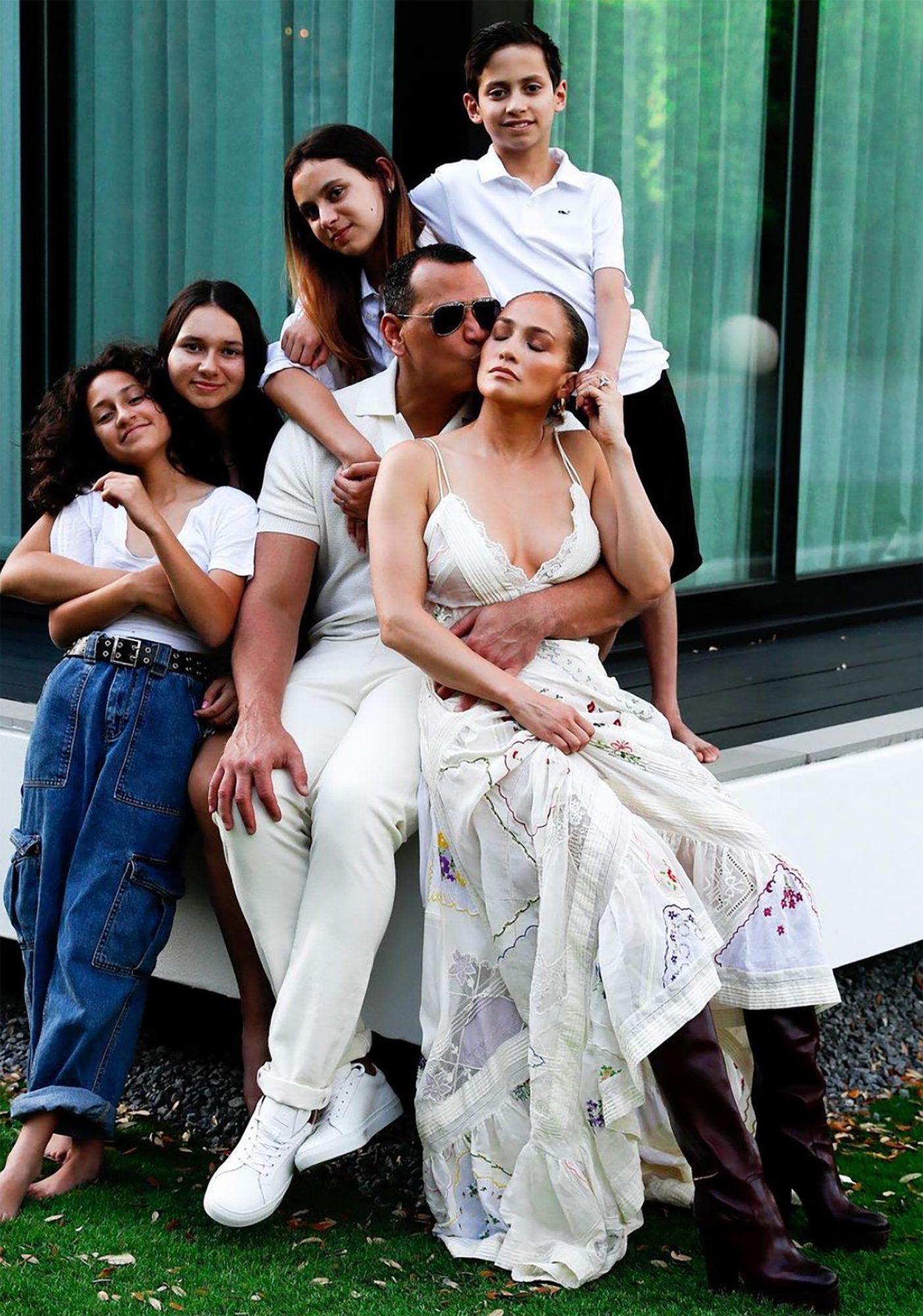 Alex Rodríguez y familia