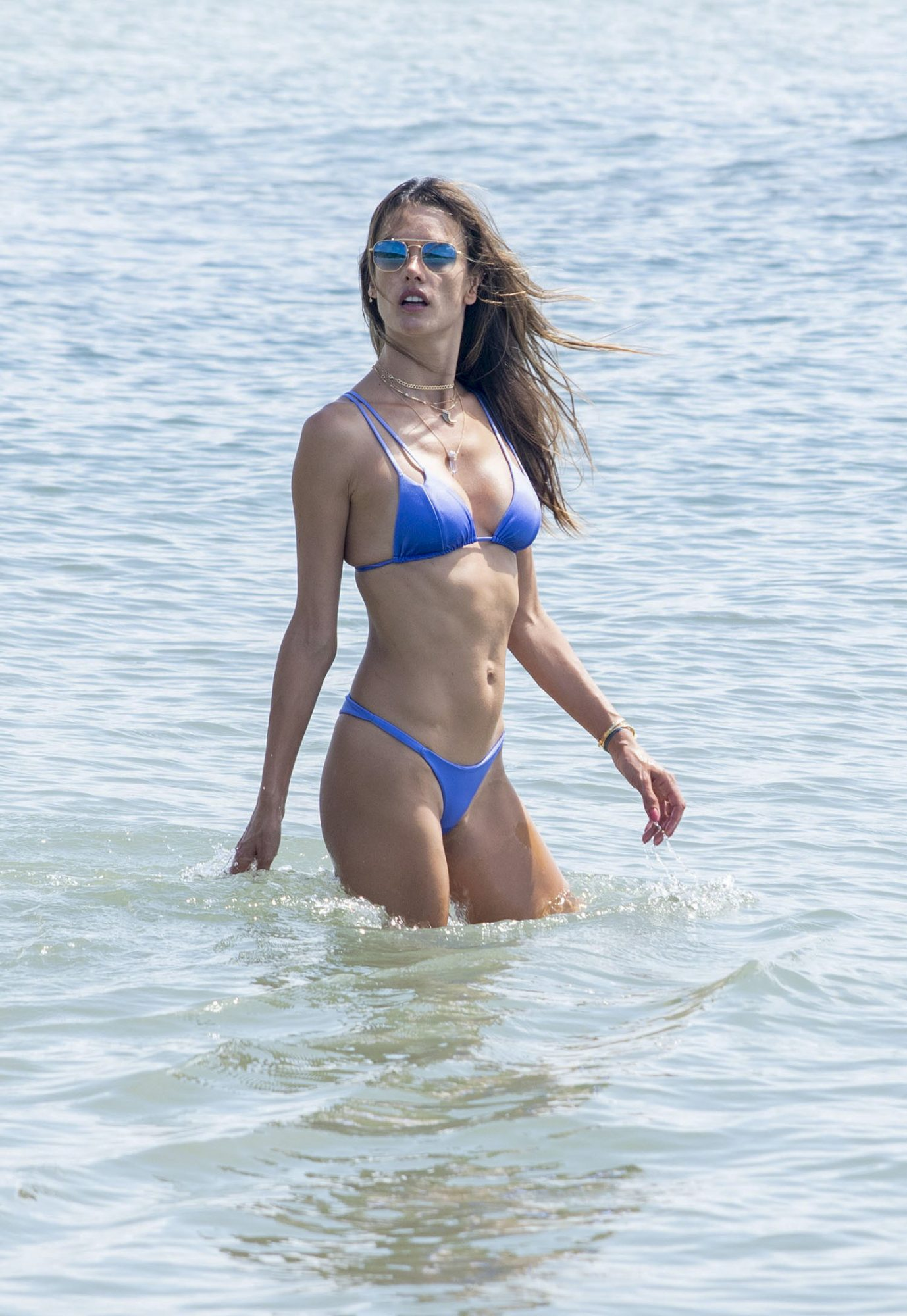 Alessandra Ambrosio Shows Off Her Flawless Physique in Tiny Blue Bikini brasil