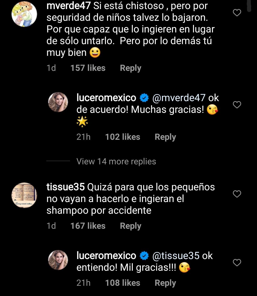 Comentarios a Lucero
