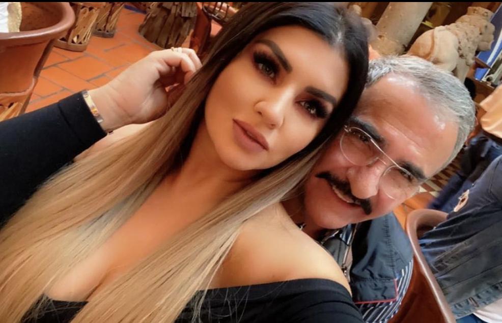 Vicente Fernández Jr. y su novia, Mariana González