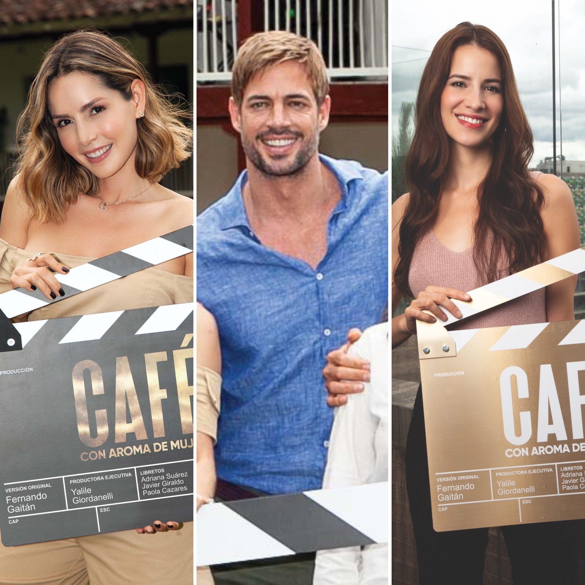 Carmen Villalobos, William Levy y Laura Londoño