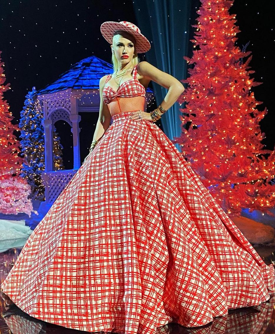 Gwen Stefani, look, navidad, arbol de navidad de Rockefeller, New York