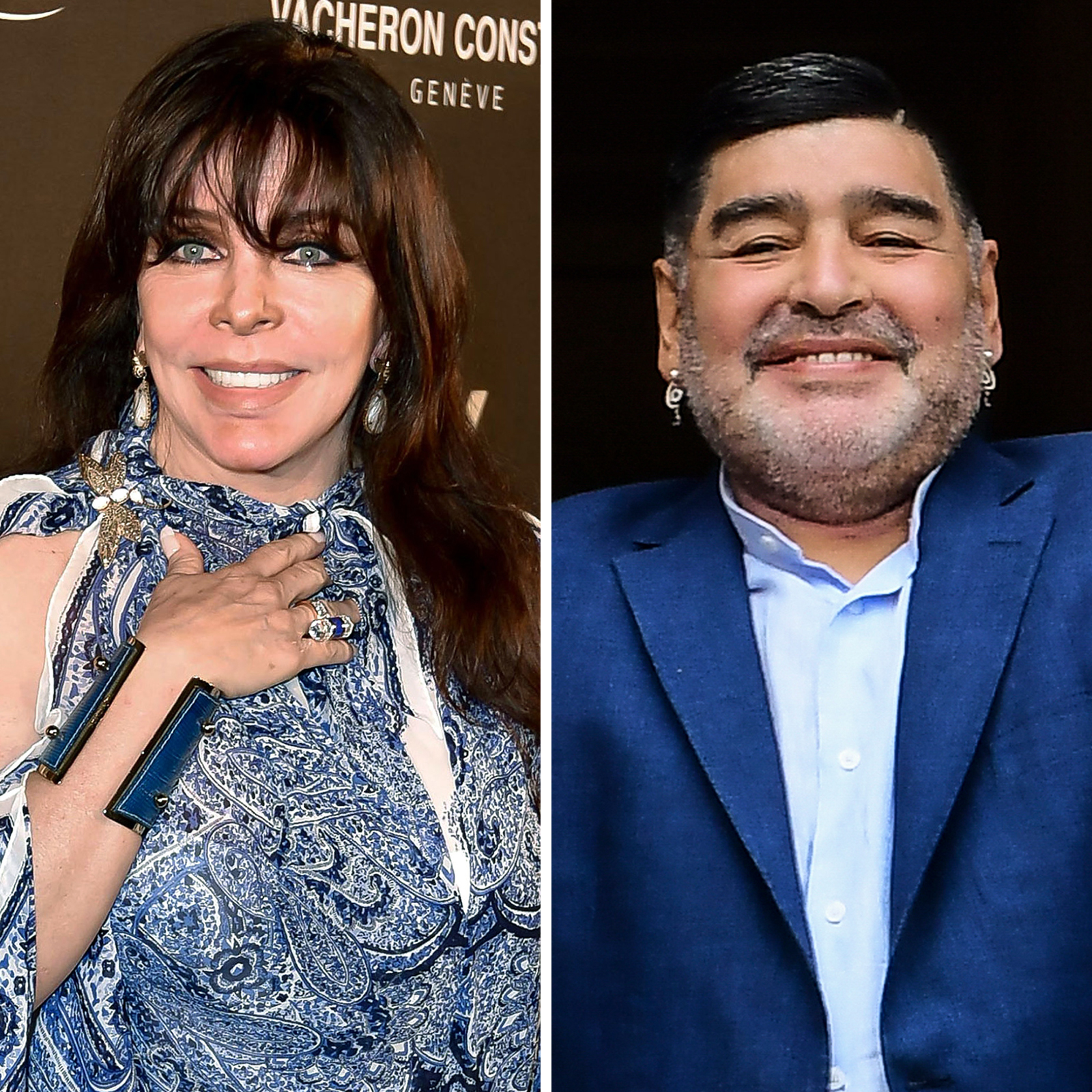Verónica Castro y Maradona