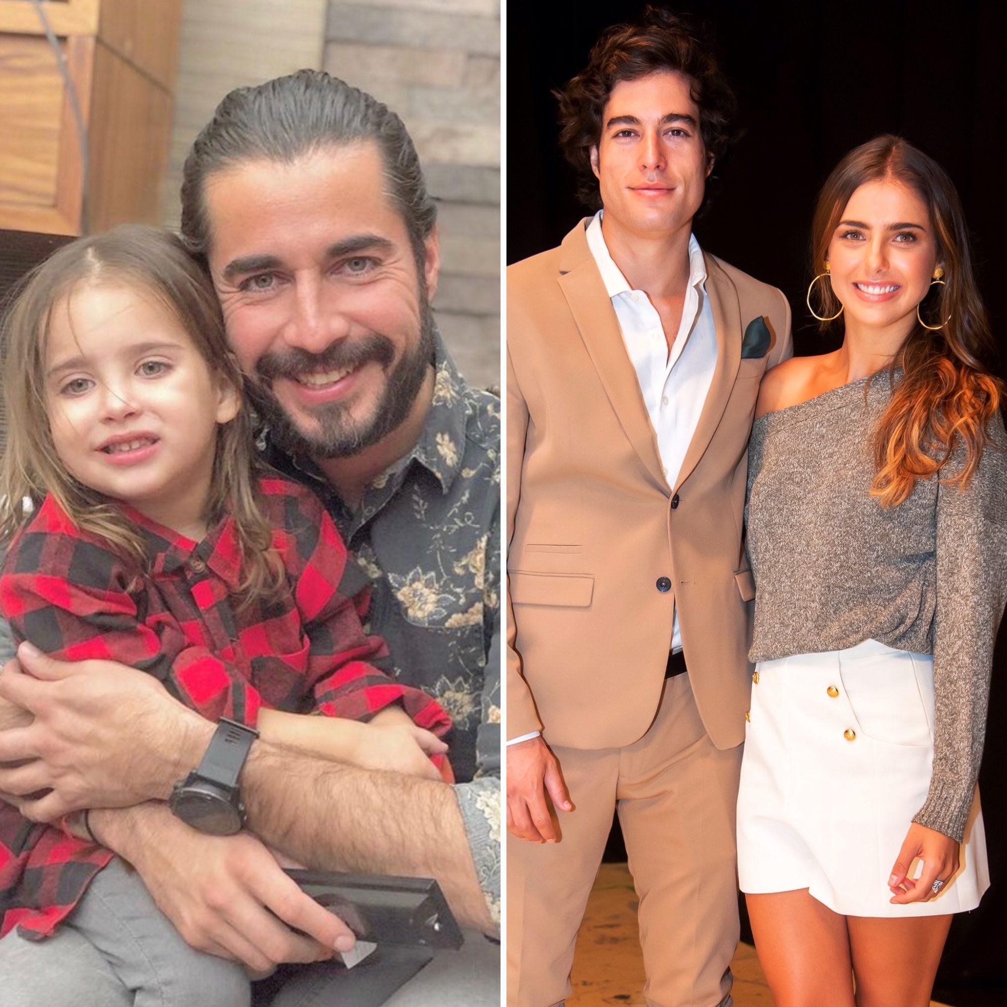Michelle Renaud, Danilo Carrera, Josué Alvarado y su hijo