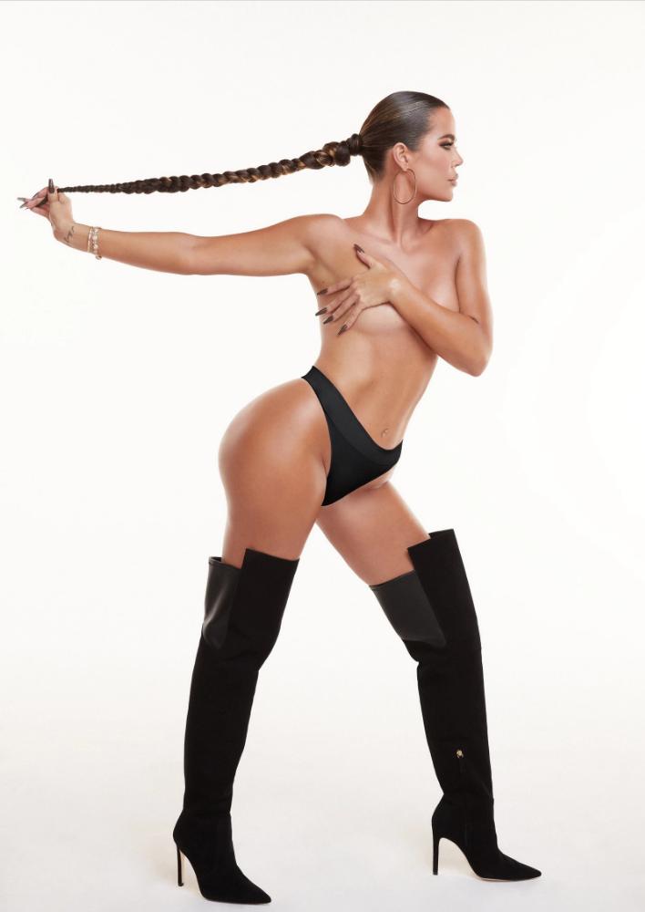 Khloe Kardashian desnuda zapatos