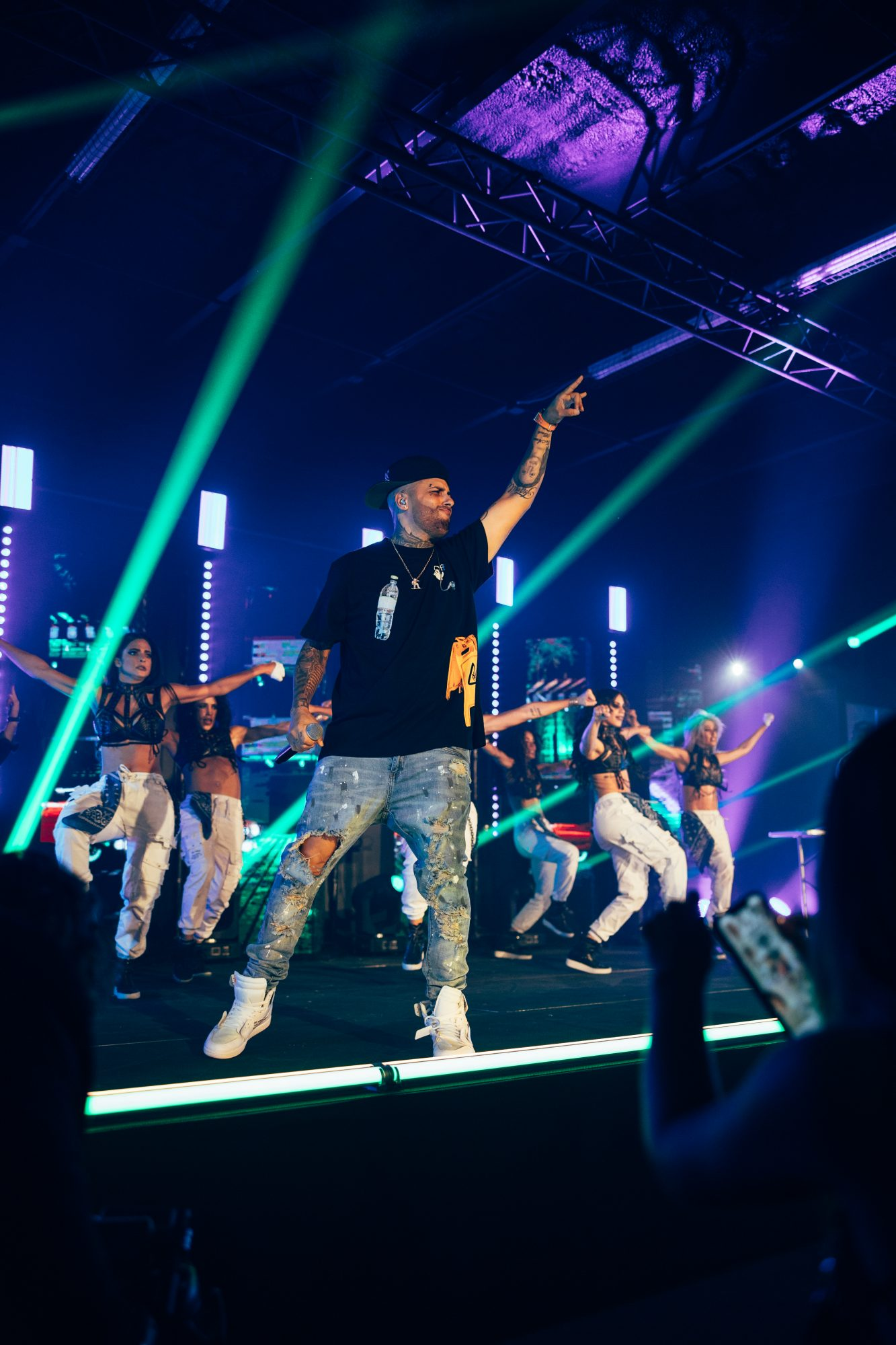 Nicky Jam performing a virtual concert at Bardot Live in Miami, Fla., streamed live with GlobalStreamNow