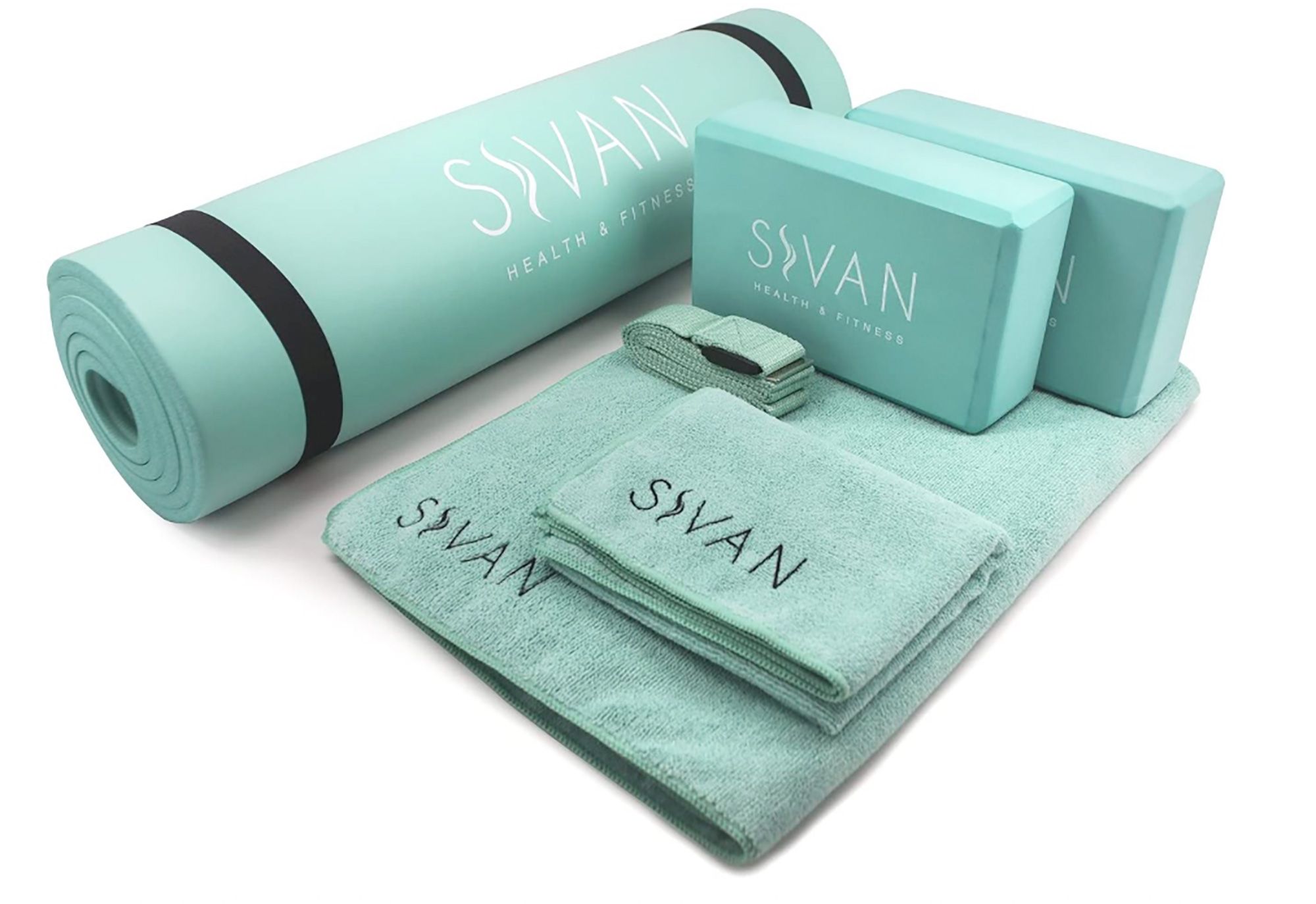 Un regalo ideal para aquellos que aman la disciplina del yoga, ya que incluye todo los elementos básicos que necesitas para realizar una sesión en casa. El kit traeuna colchoneta, un set de toallas, una correa y dos bloques.