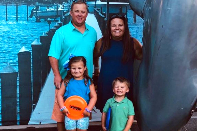 Matt and Lauren Kirchgessner and their children, Addie and Baylor