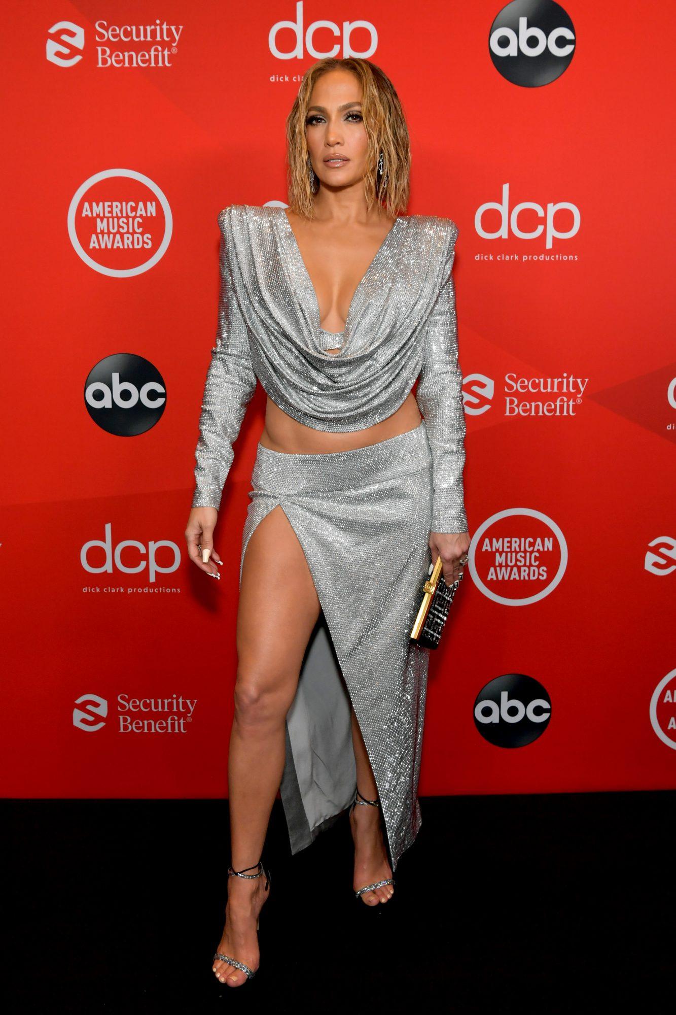 Jennifer Lopez brillos AMAs