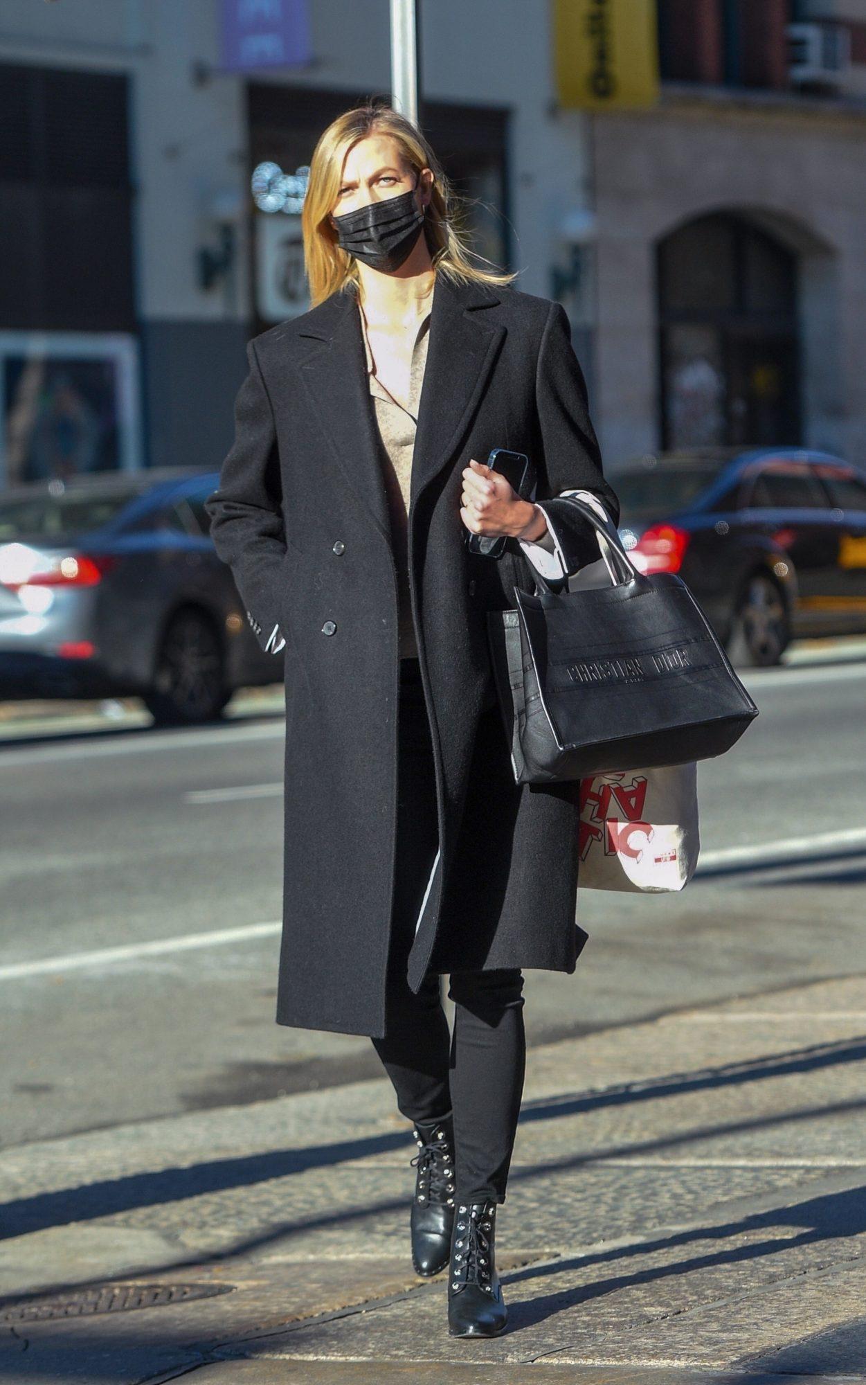 Karlie Kloss, look, otono, frio , Nueva York