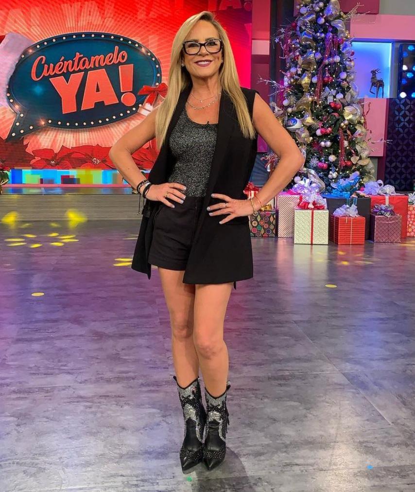 Roxana Castellanos, look, pantalon corto, botas baqueras