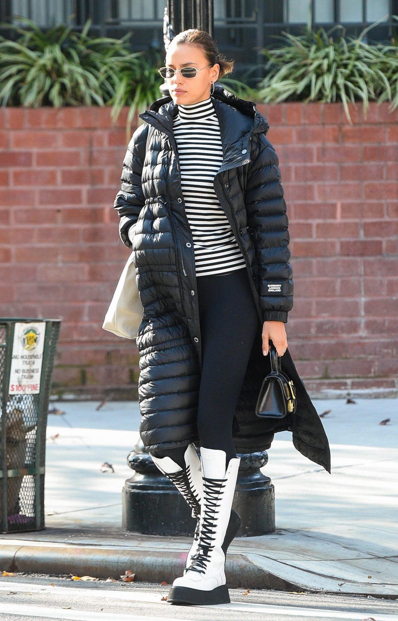 Irina Shayk, look, Nueva York, frio