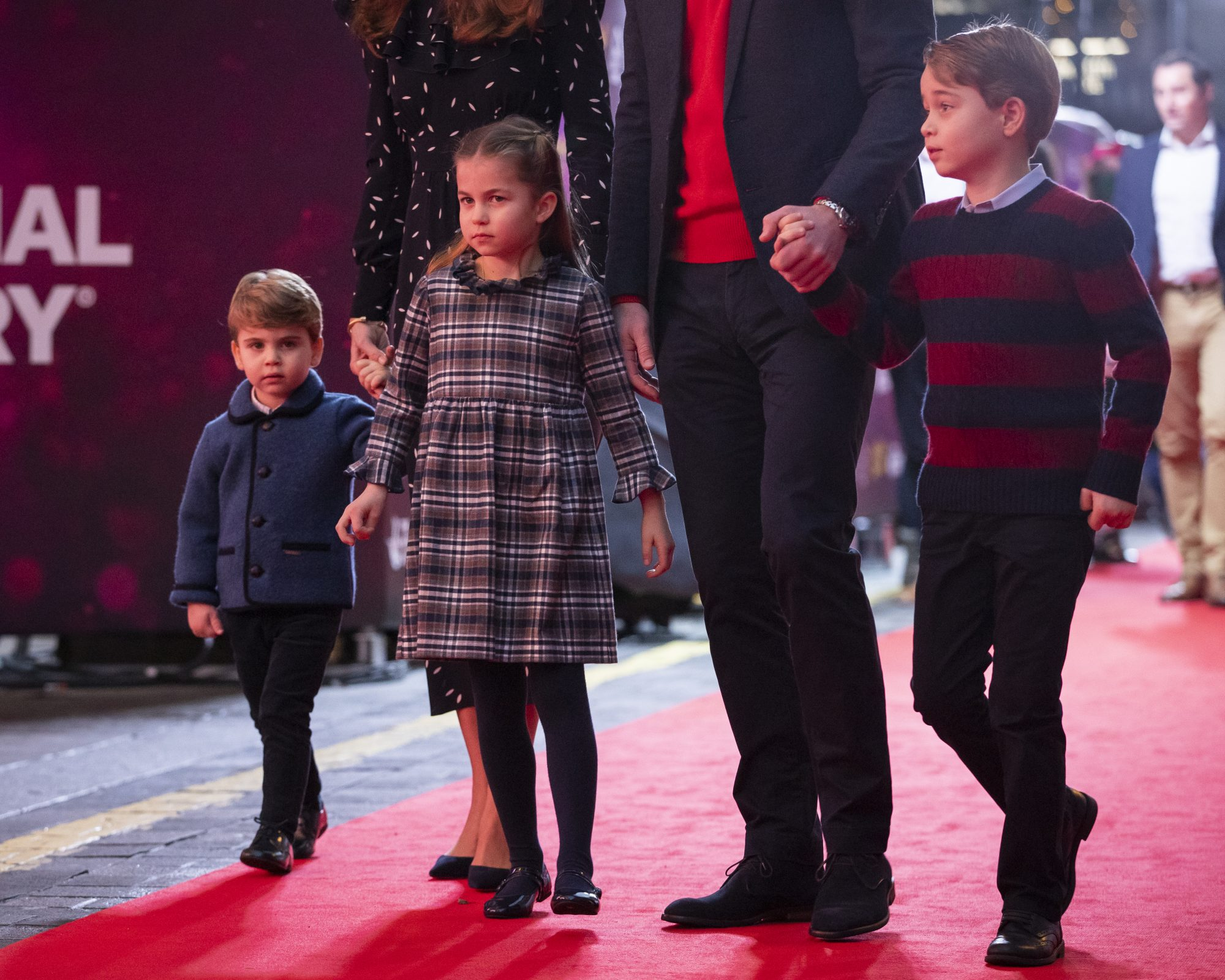 Kate MIddleton, principe William, principes Louis, Charlotte, George, Londres 2020