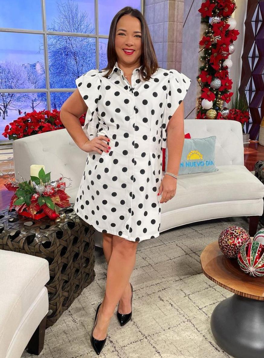 Adamari Lopez, look, vestido de bolas, un nuevo dia