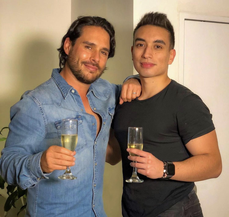 Sebastián Caicedo y su sobrino Pipe