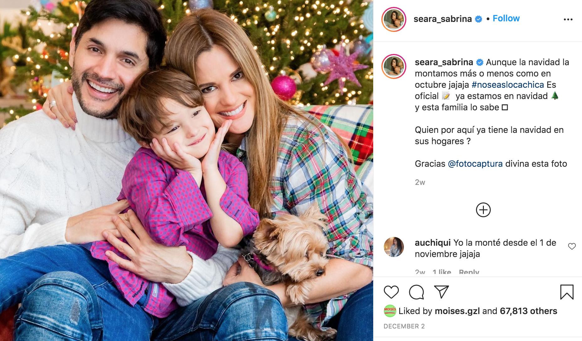 Sabrina Seara con su familia