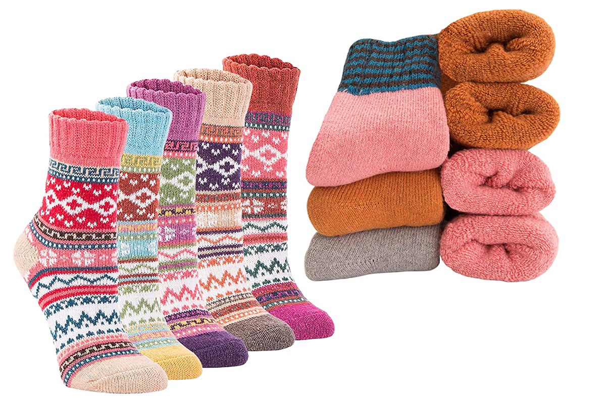 Calcetines de lana supergruesos para mujer, suaves