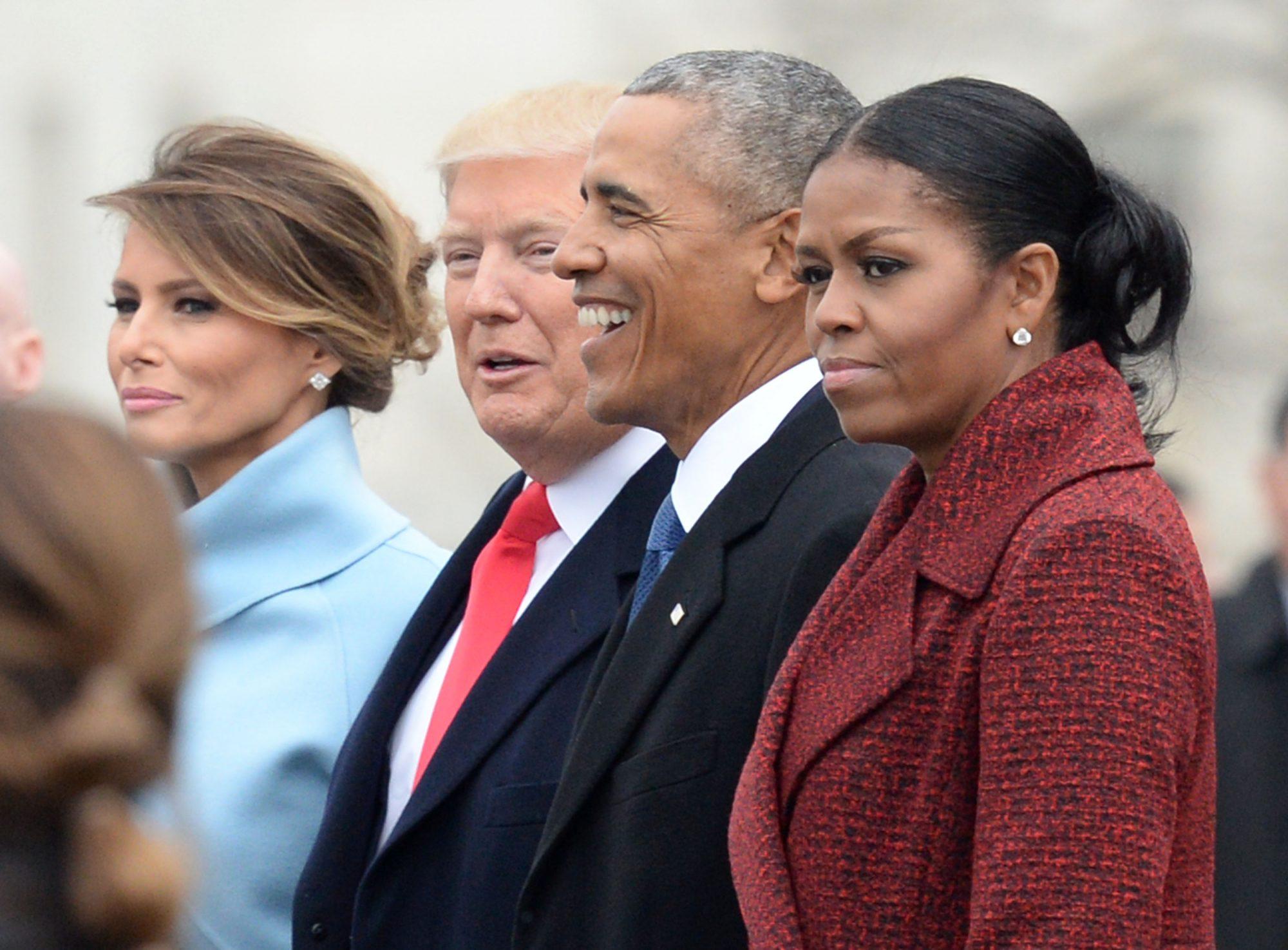 Michelle Obama, Barack Obama, Donald Trump y Melania Trump