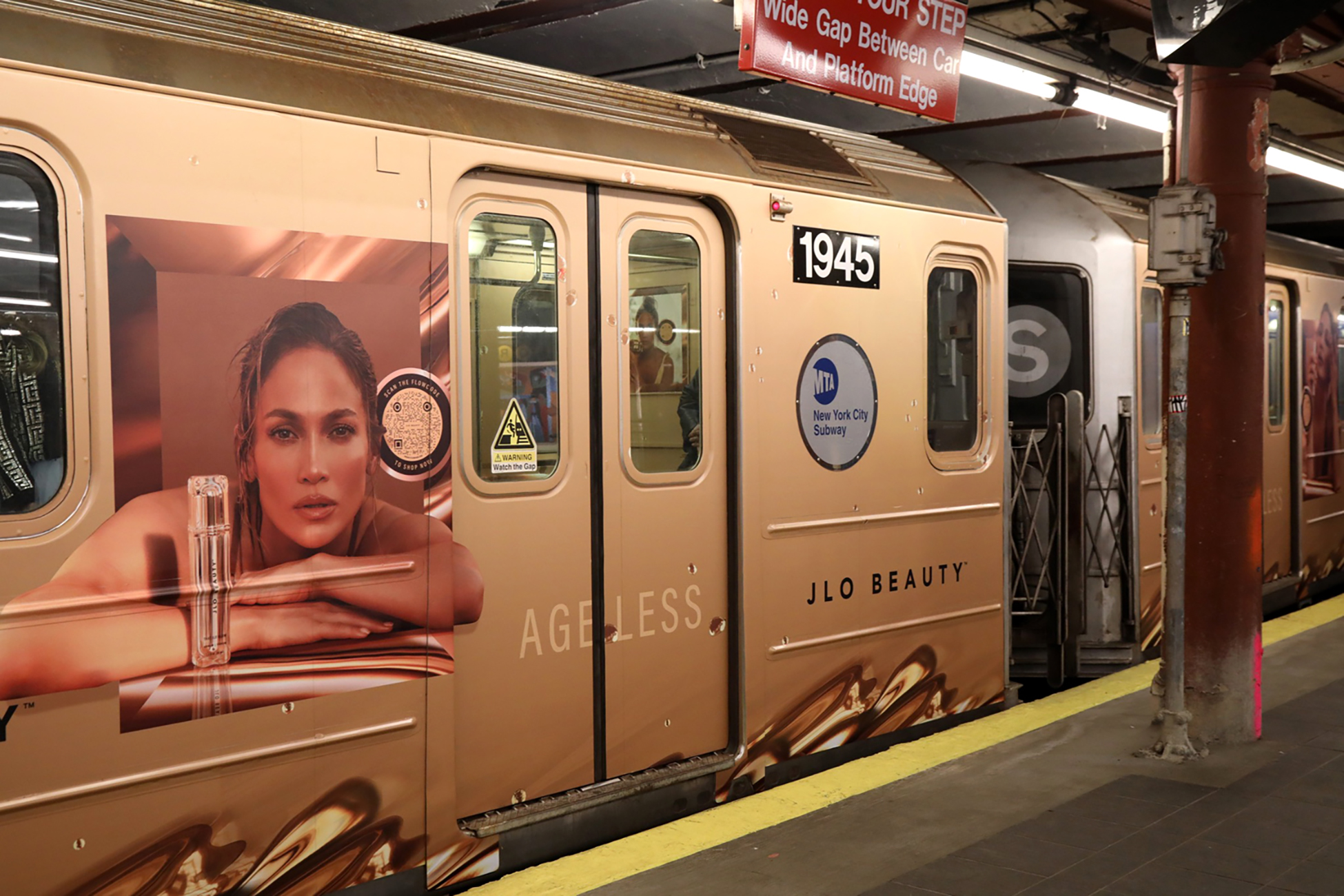 Jennifer Lopez's JLo Beauty-wrapped train