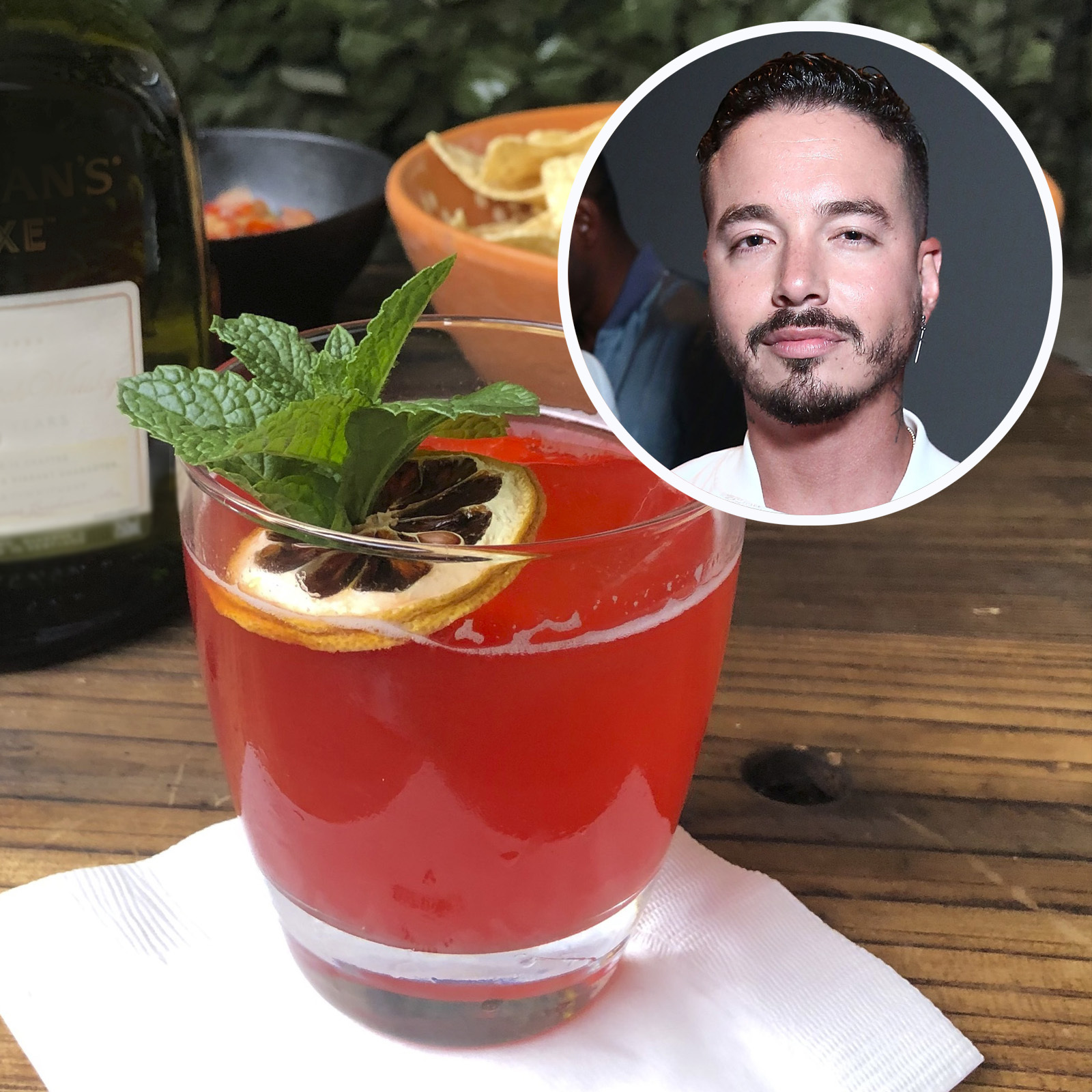 J Balvin , cocktail, Colores, whisky