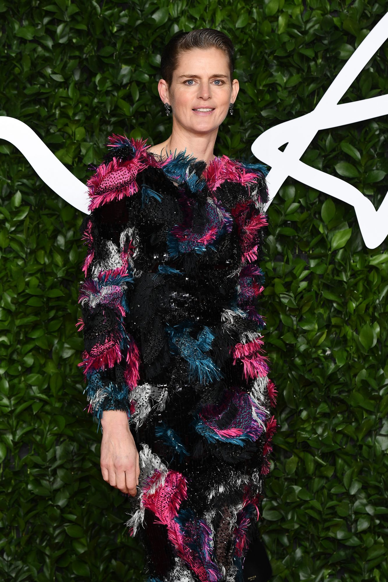 Stella Tennant arrives at The Fashion Awards 2019